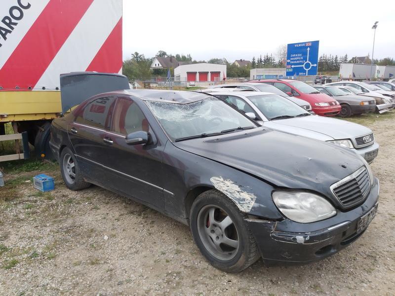 Naudotos automobilio dalys Mercedes-Benz S-CLASS 2001 3.2 Automatinė Sedanas 4/5 d. Juoda 2020-10-02