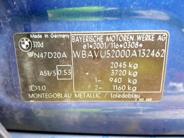 Naudotos automobiliu dallys Foto 8 BMW 3-SERIES 2008 2.0 Mechaninė Universalas 4/5 d. Melyna 2019-12-13 A4969