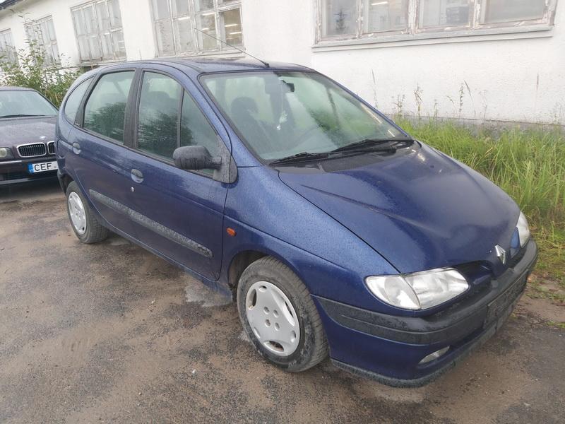 Naudotos automobilio dalys Renault SCENIC 1998 1.9 Mechaninė Vienatūris 4/5 d. Melyna 2020-9-05