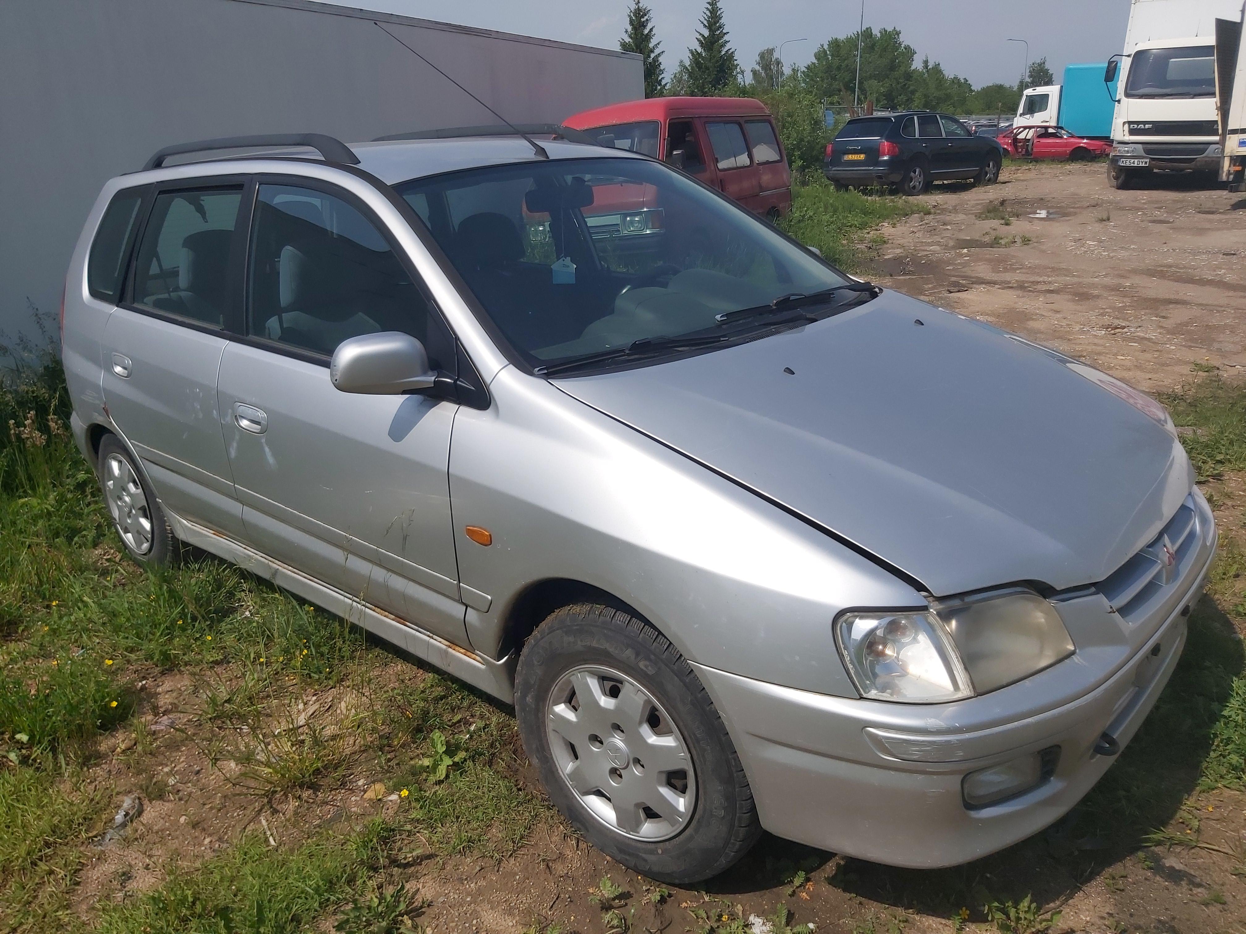 Naudotos automobilio dalys Mitsubishi SPACE STAR 1999 1.8 Mechaninė Vienatūris 4/5 d. Sidabrine 2020-6-11