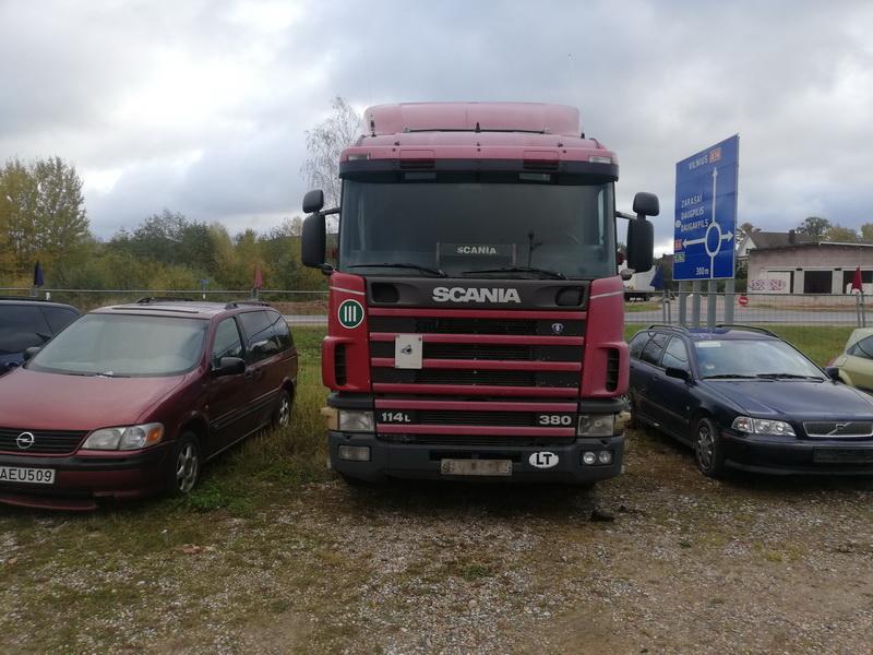 Naudotos automobilio dalys Truck -Scania 124L 2000 10.6 Mechaninė Vilkikas 2/3 d. Raudona 2019-10-10