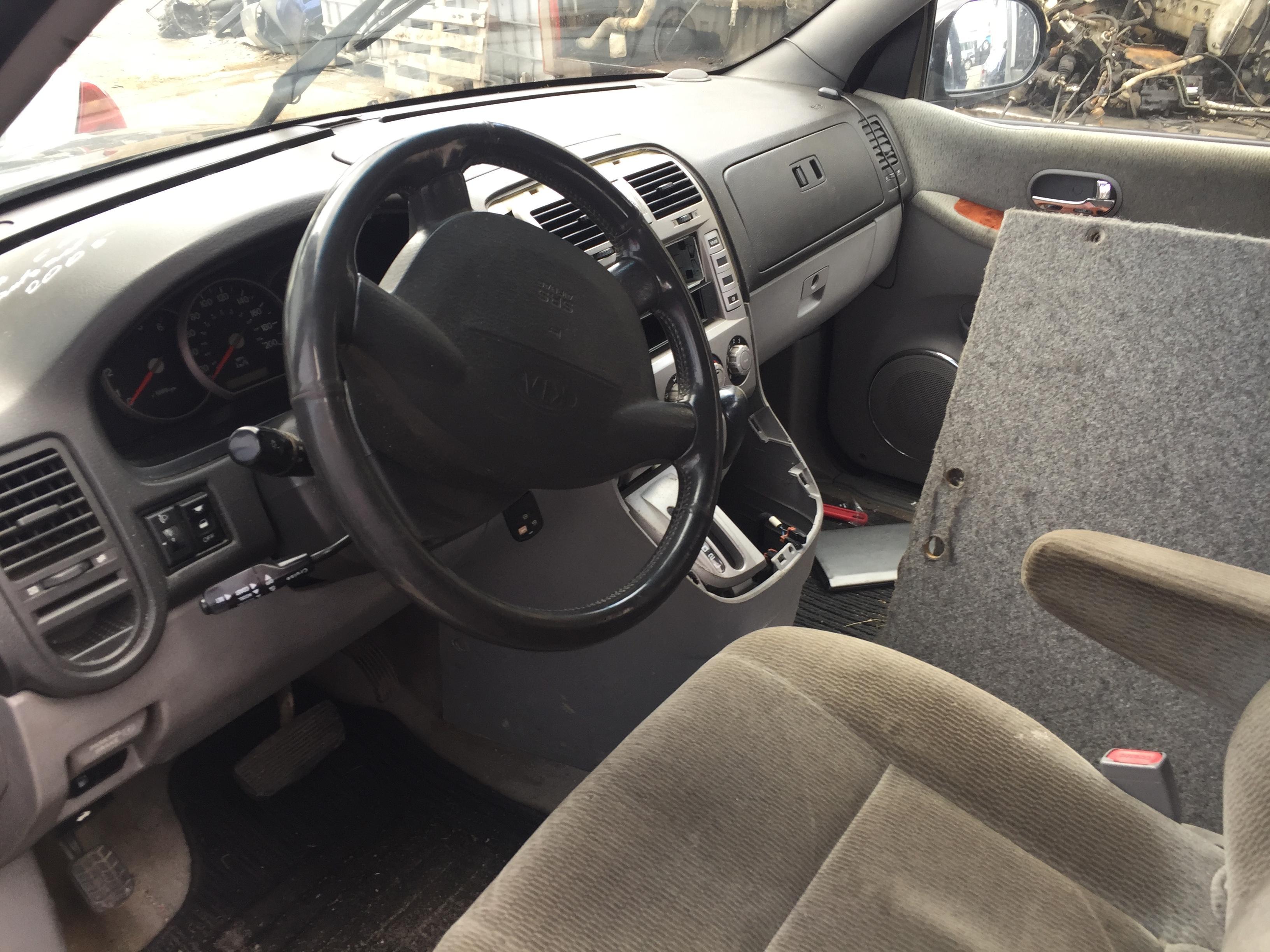 Naudotos automobiliu dallys Foto 4 Kia CARNIVAL 2005 2.9 Automatinė Vienatūris 4/5 d. Juoda 2017-8-28 A3419