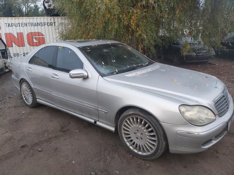 Naudotos automobilio dalys Mercedes-Benz S-CLASS 2002 3.2 Automatinė Sedanas 4/5 d. Sidabrine 2020-10-09