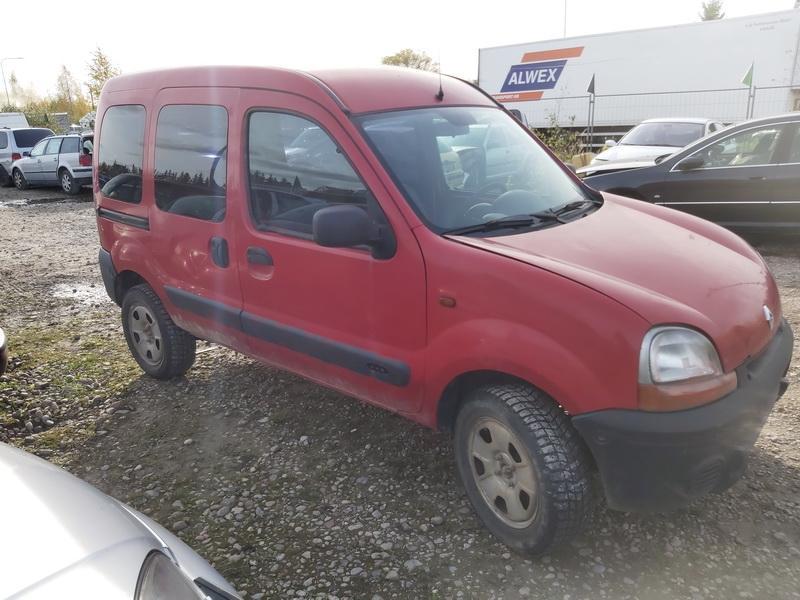 Naudotos automobilio dalys Renault KANGOO 2002 1.6 Mechaninė Komercinis 4/5 d. Raudona 2020-10-20