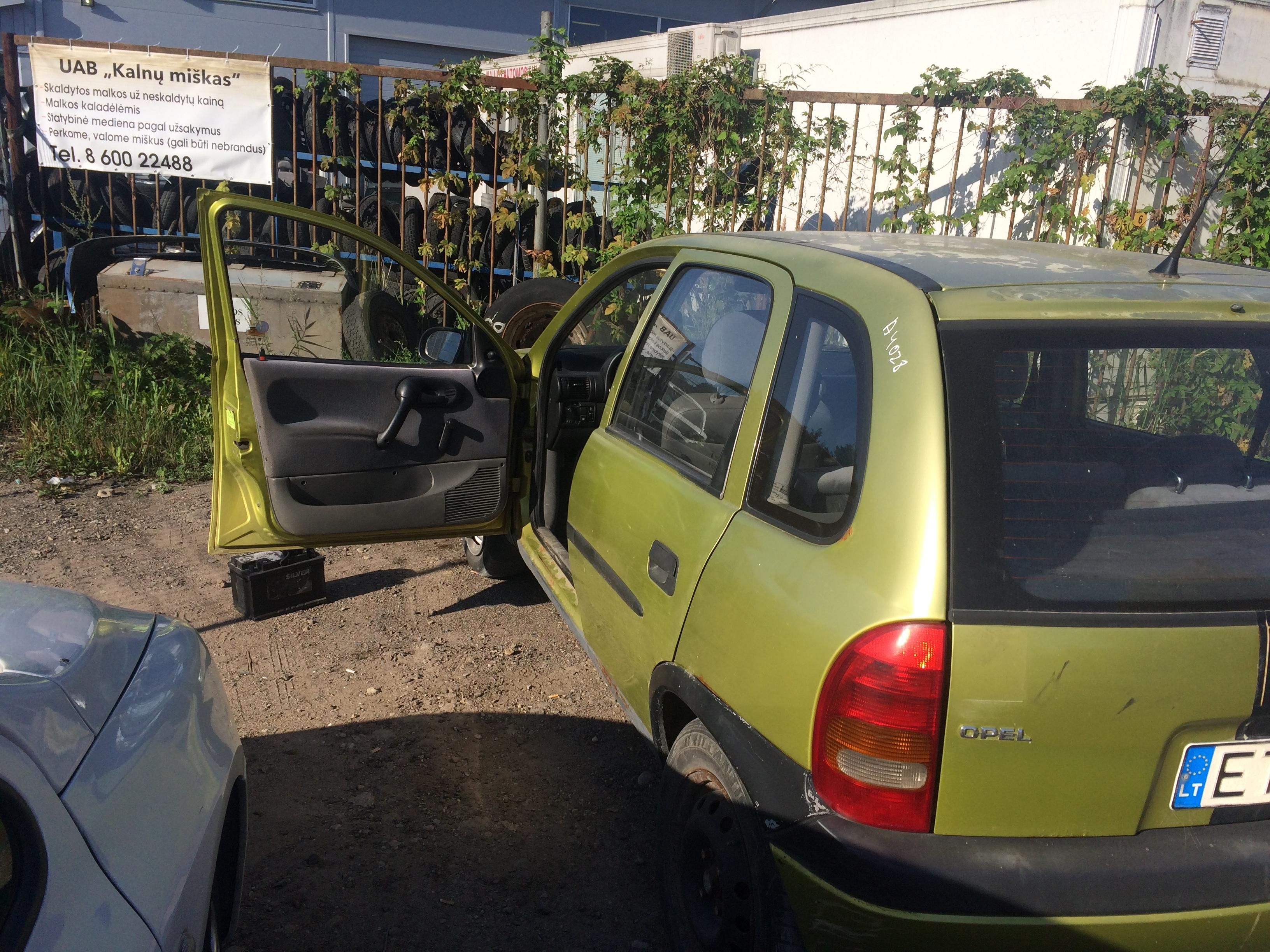 Naudotos automobiliu dallys Foto 7 Opel CORSA 1997 1.7 Mechaninė Hečbekas 4/5 d. Geltona 2018-8-10 A4028