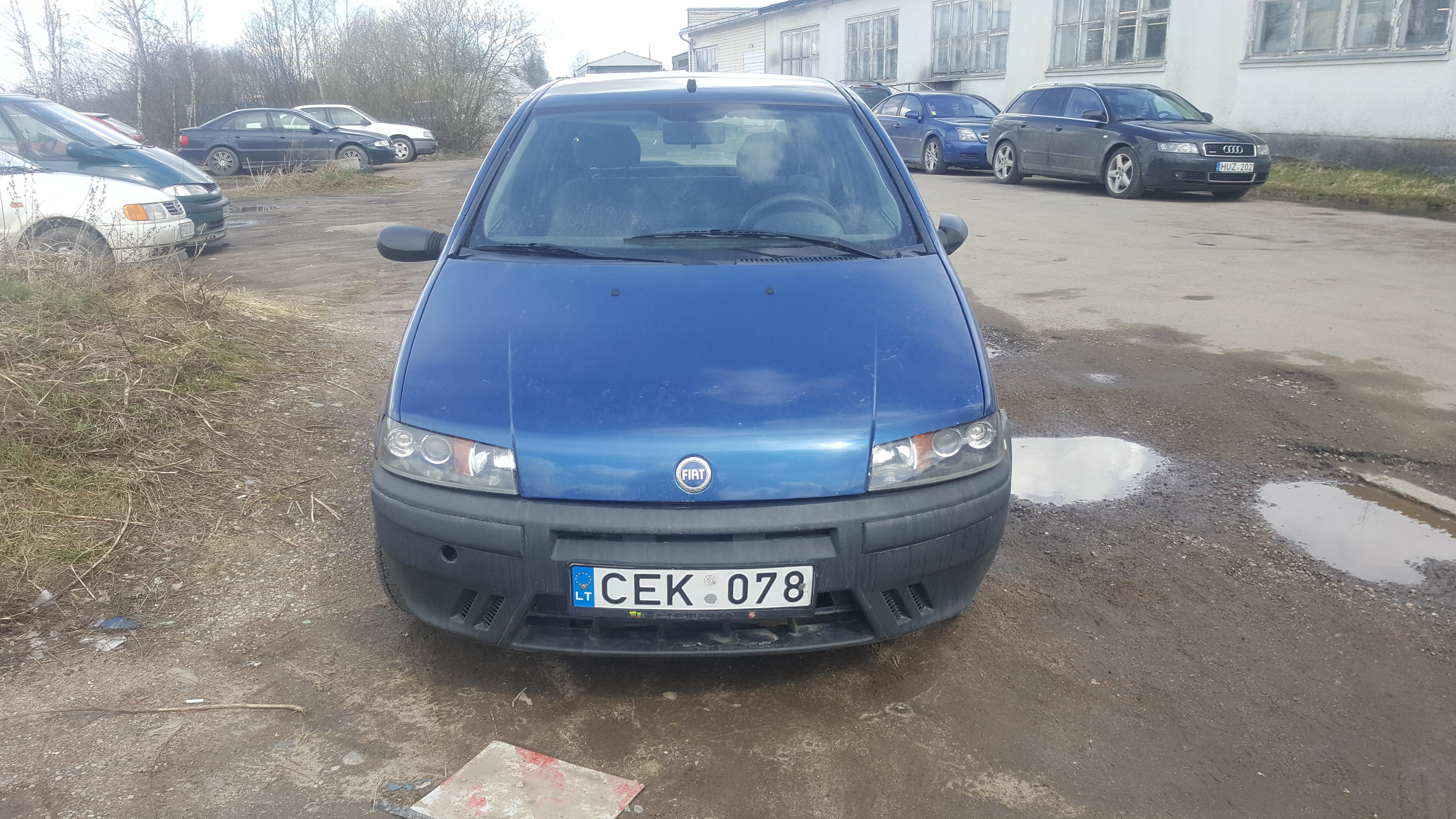 Naudotos automobilio dalys Fiat PUNTO 1999 1.2 Mechaninė Hečbekas 2/3 d. Melyna 2017-4-07