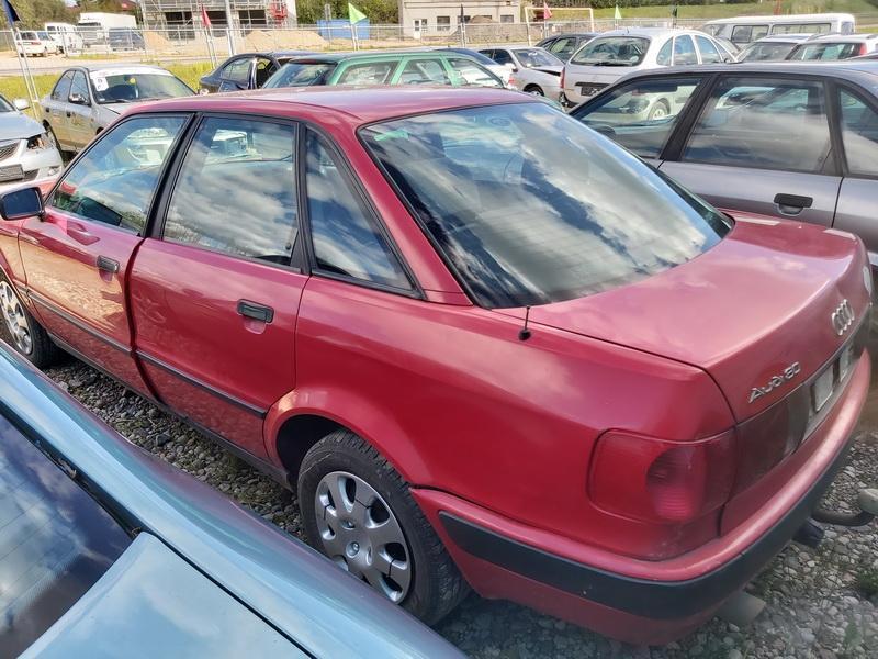 Naudotos automobiliu dallys Foto 7 Audi 80 1992 2.0 Mechaninė Sedanas 4/5 d. Raudona 2020-5-20 A5292