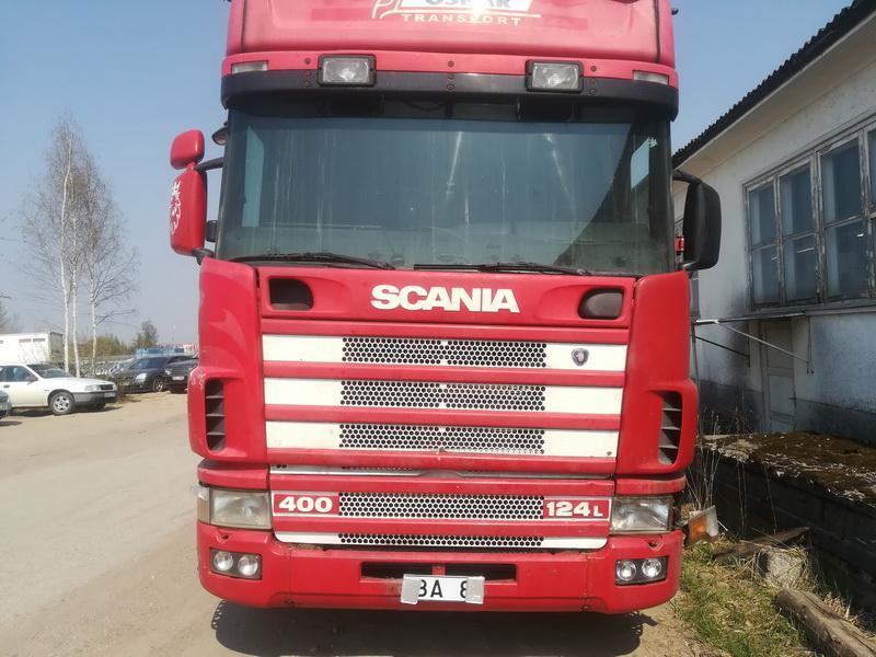 Naudotos automobilio dalys Truck -Scania 124L 2001 11.7 Mechaninė Vilkikas 2/3 d. Raudona 2019-4-24