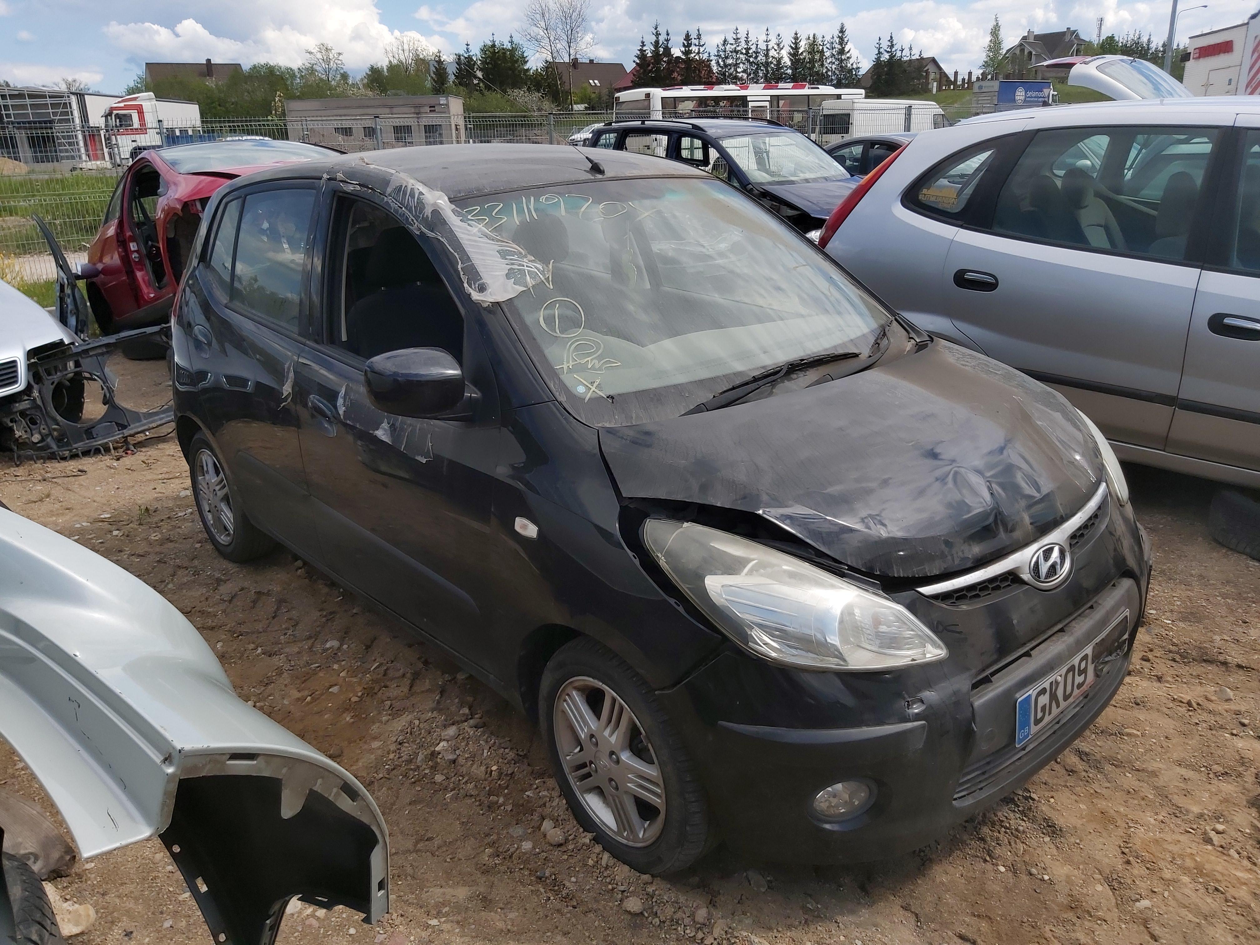 Naudotos automobilio dalys Hyundai I10 2009 1.2 Mechaninė Hečbekas 4/5 d. Juoda 2020-5-26