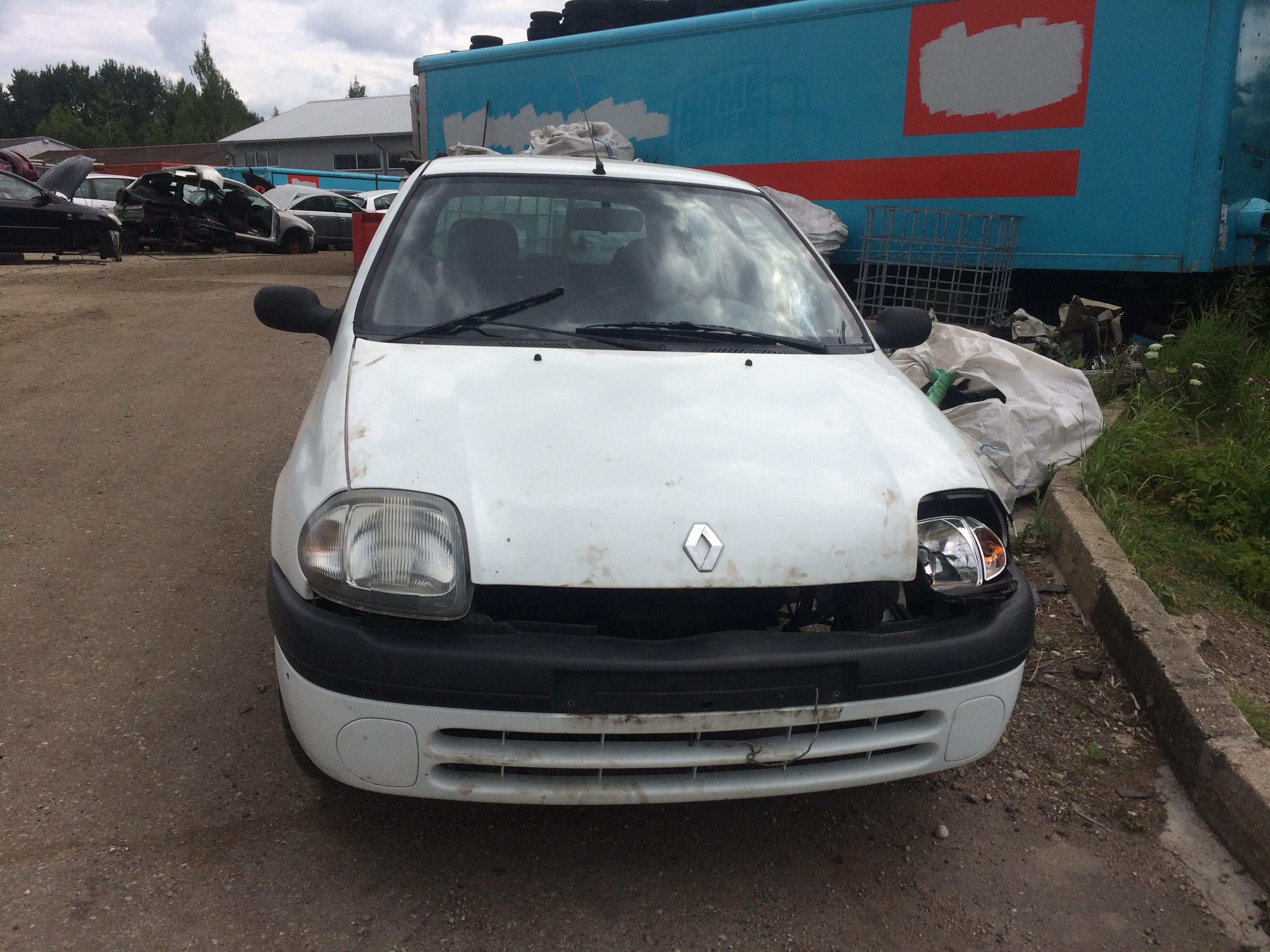 Naudotos automobiliu dallys Foto 1 Renault CLIO 2000 1.9 Mechaninė Hečbekas 2/3 d. Balta 2018-7-10 A3926