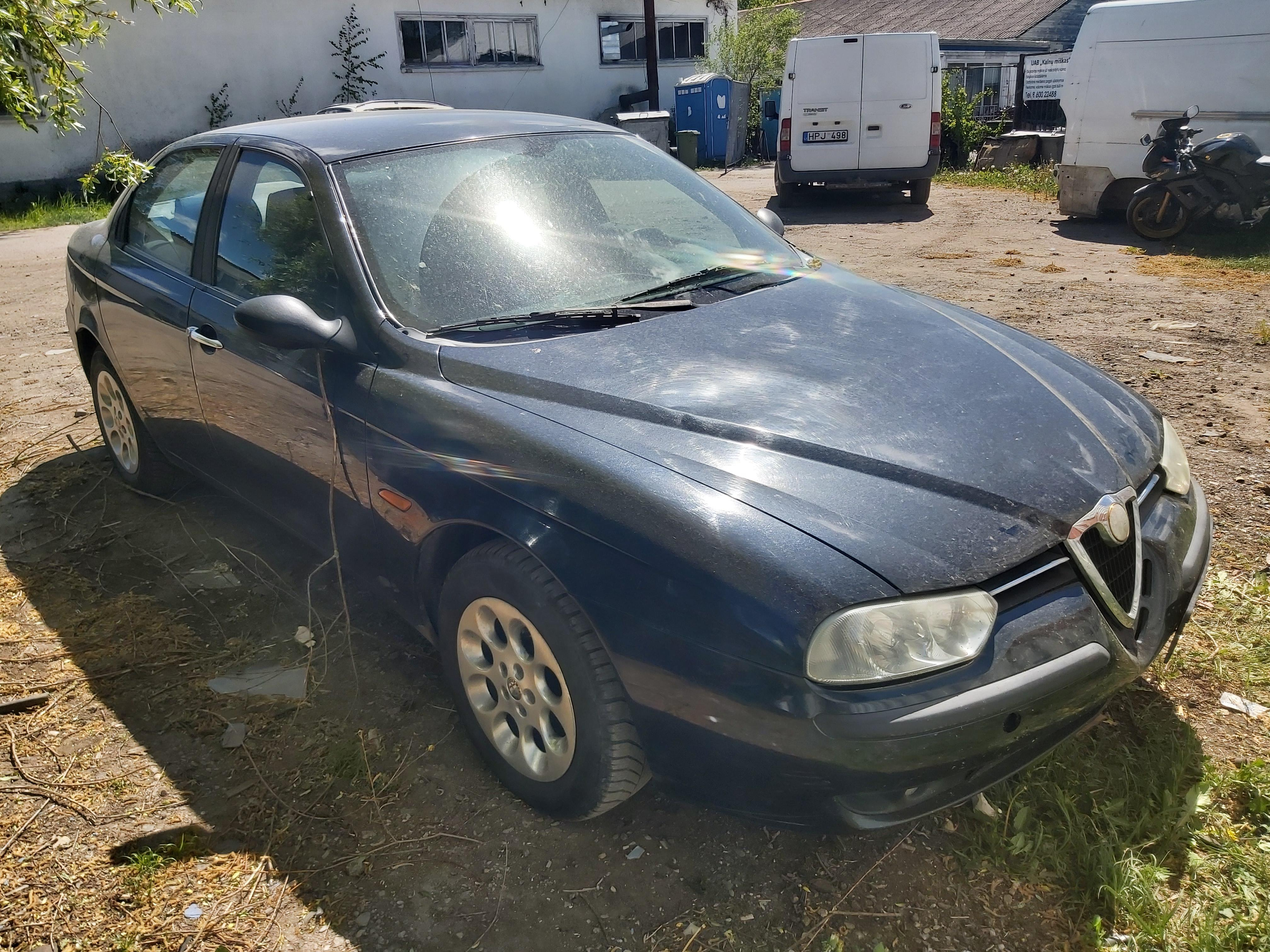 Naudotos automobilio dalys Alfa-Romeo 156 1999 1.9 Mechaninė Sedanas 4/5 d. Melyna 2020-5-29