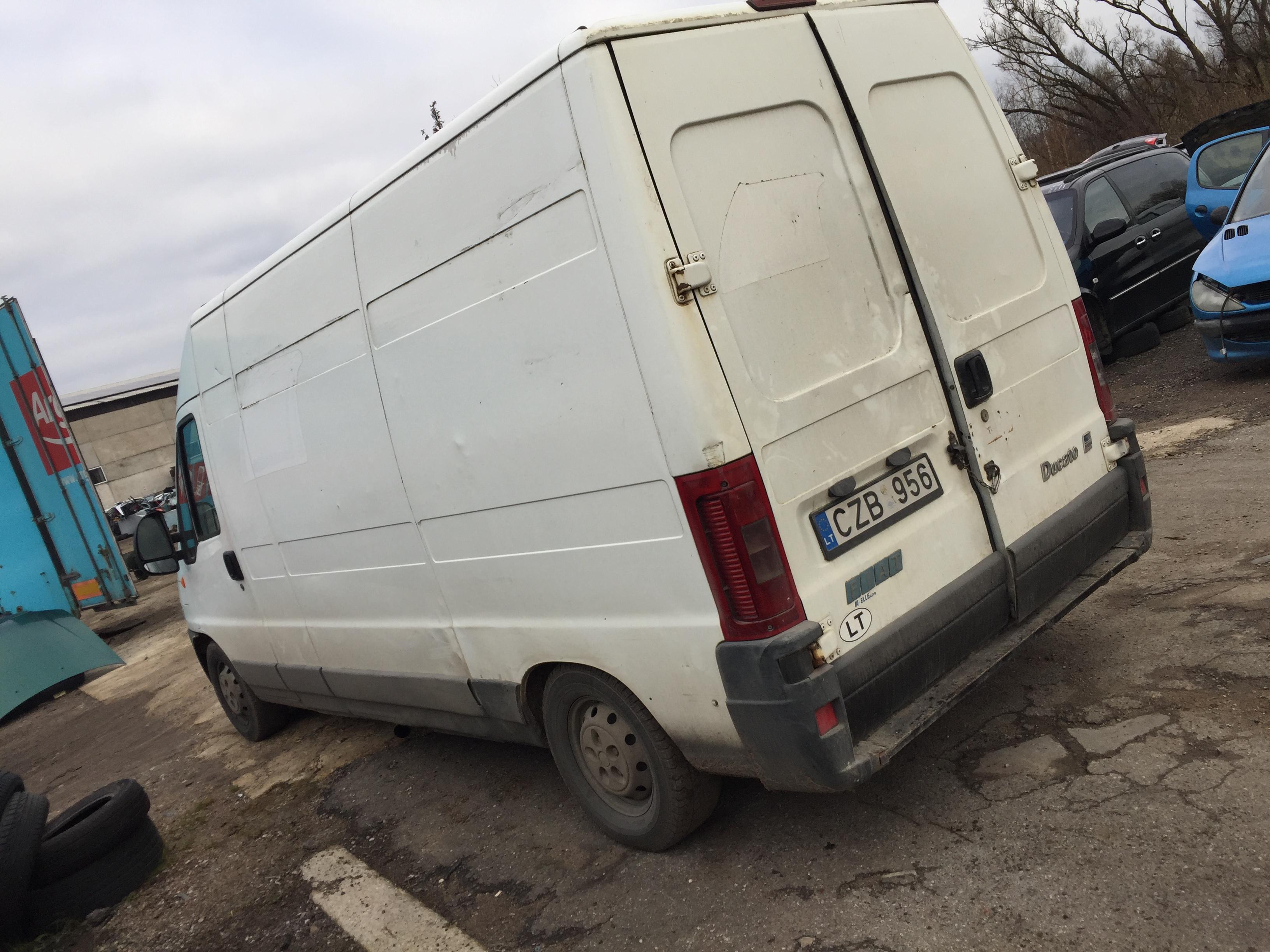 Naudotos automobilio dalys Fiat DUCATO 2002 2.3 Mechaninė Krovininis mikroautobusas 2/3 d. Balta 2017-11-08
