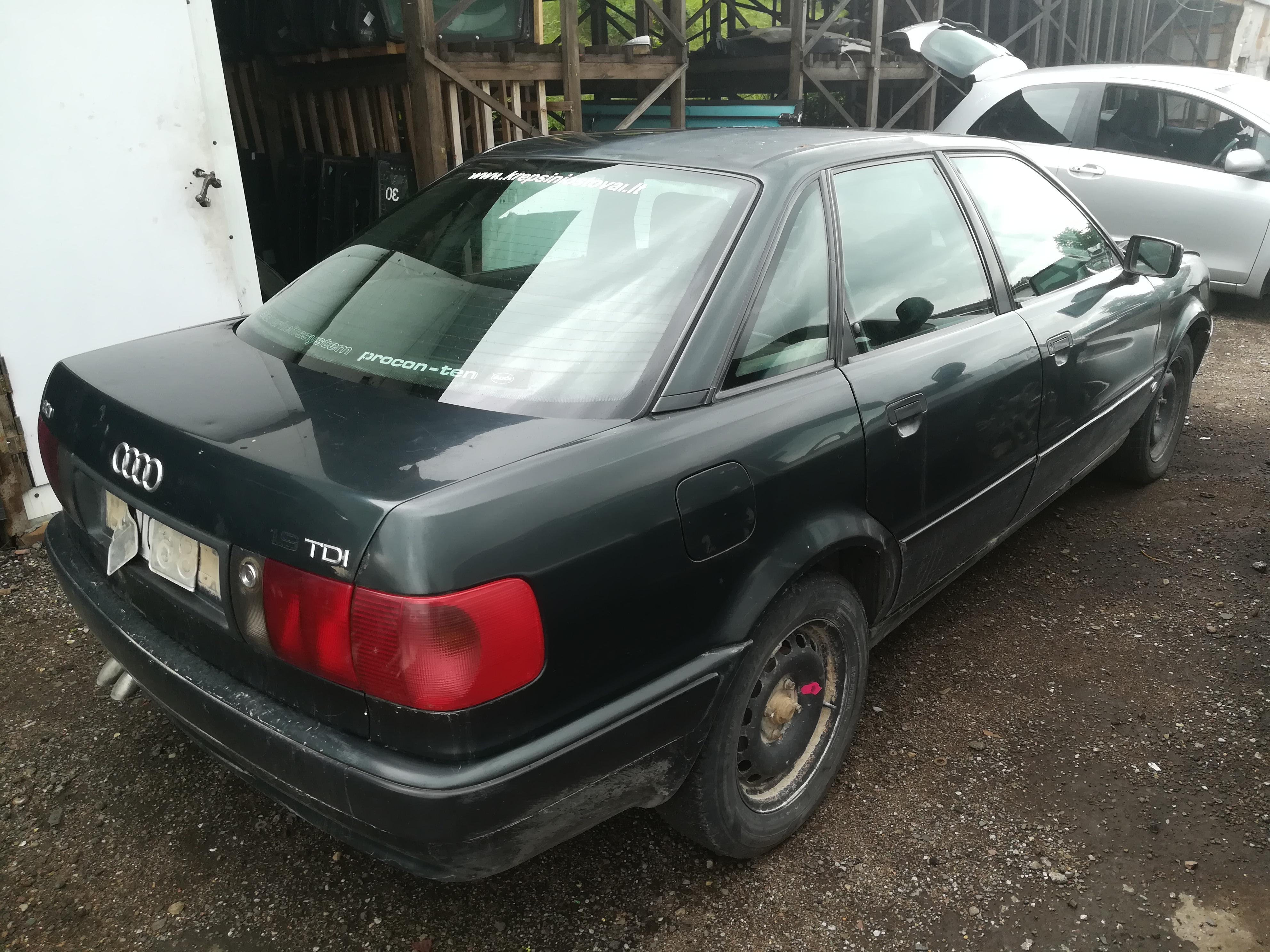 Naudotos automobiliu dallys Foto 8 Audi 80 1992 1.9 Mechaninė Sedanas 4/5 d. Zalia 2019-7-16 A4632