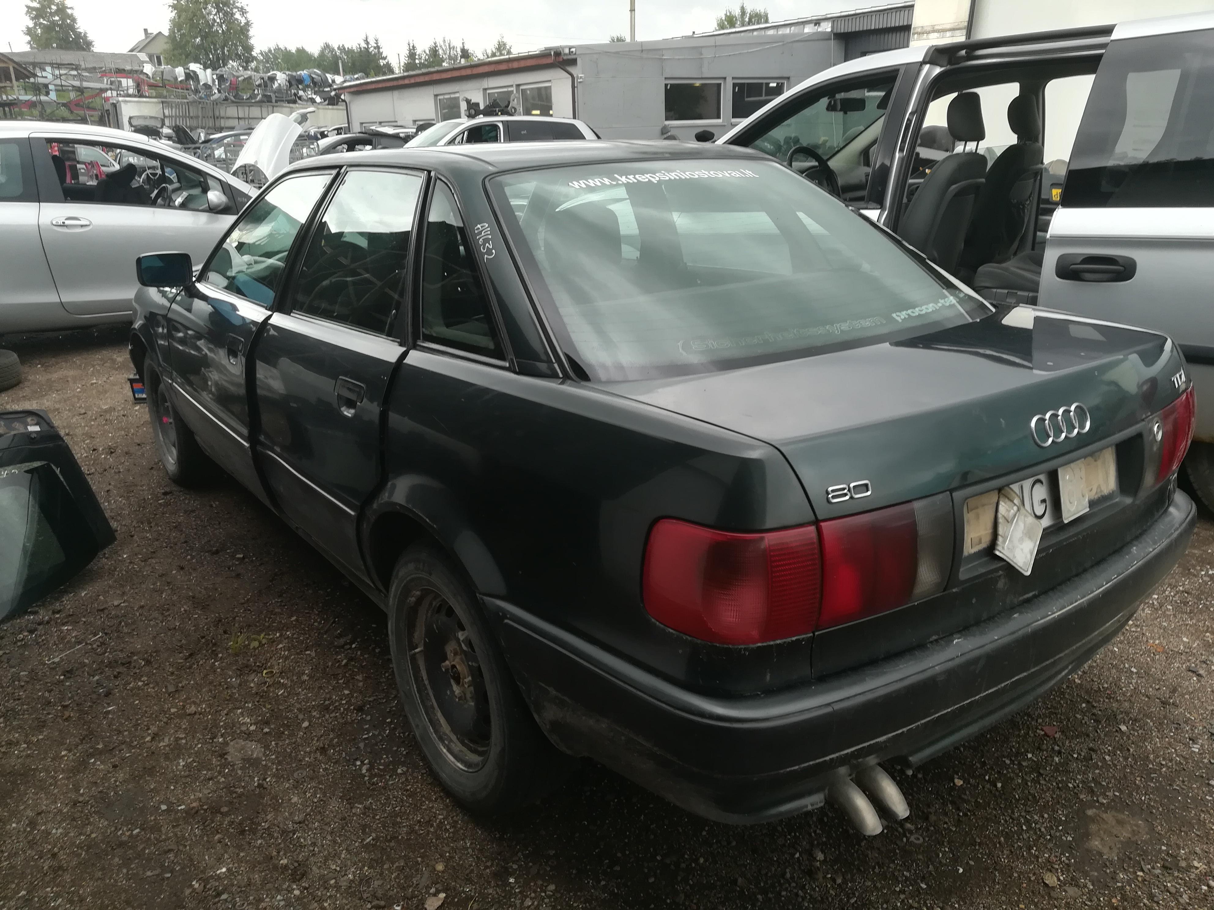 Naudotos automobiliu dallys Foto 7 Audi 80 1992 1.9 Mechaninė Sedanas 4/5 d. Zalia 2019-7-16 A4632