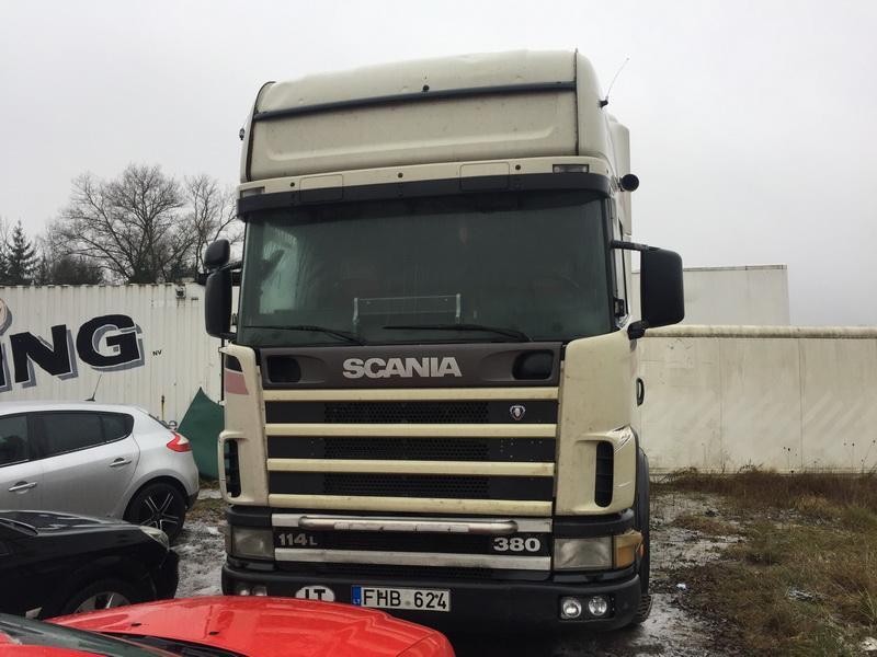 Naudotos automobilio dalys Truck -Scania 4-SERIES 2002 11.0 Mechaninė Vilkikas 2/3 d. Balta 2018-12-12