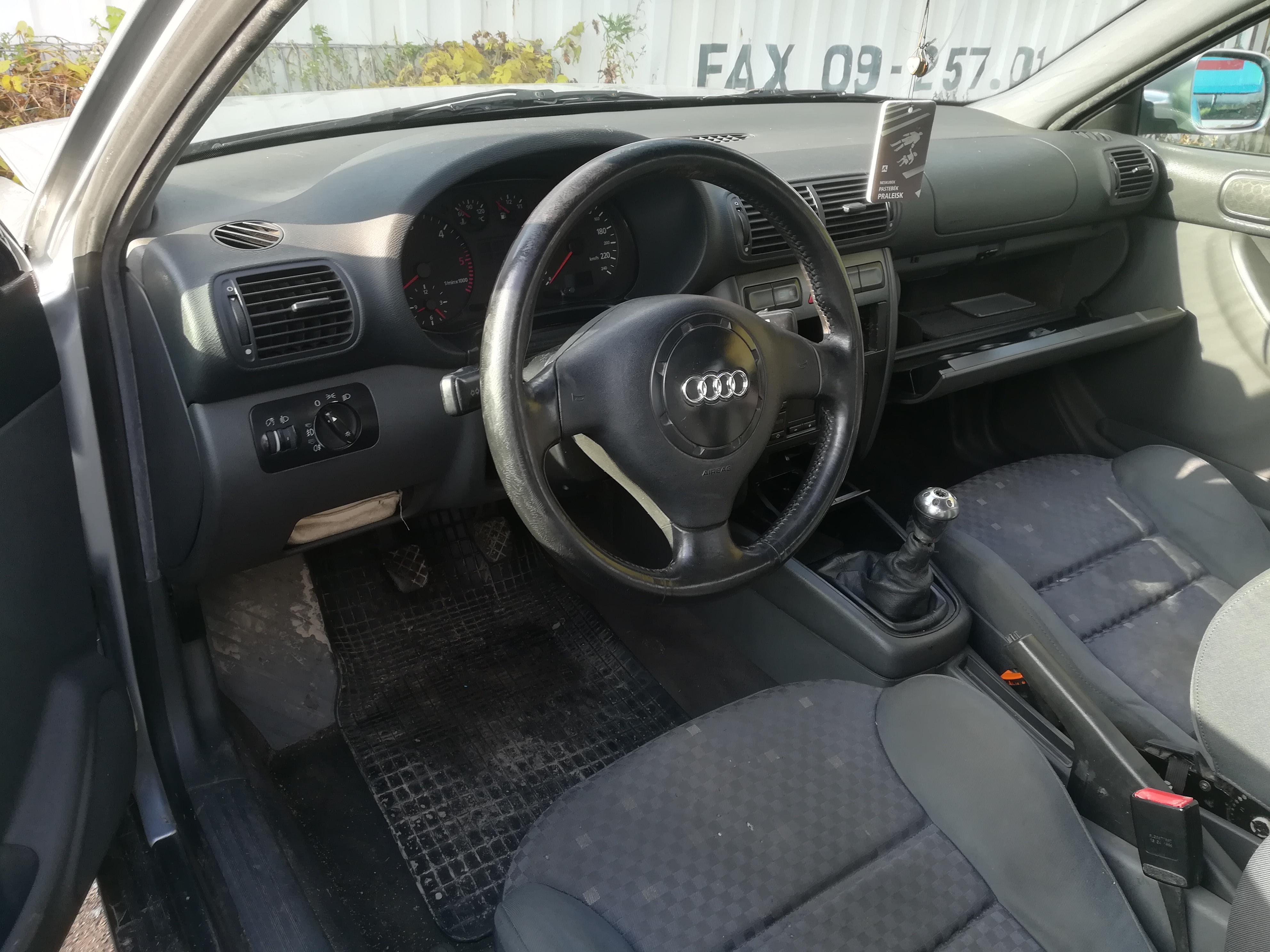 Naudotos automobilio dalys Audi A3 1999 1.9 Mechaninė Hečbekas 2/3 d. Sidabrine 2019-10-14