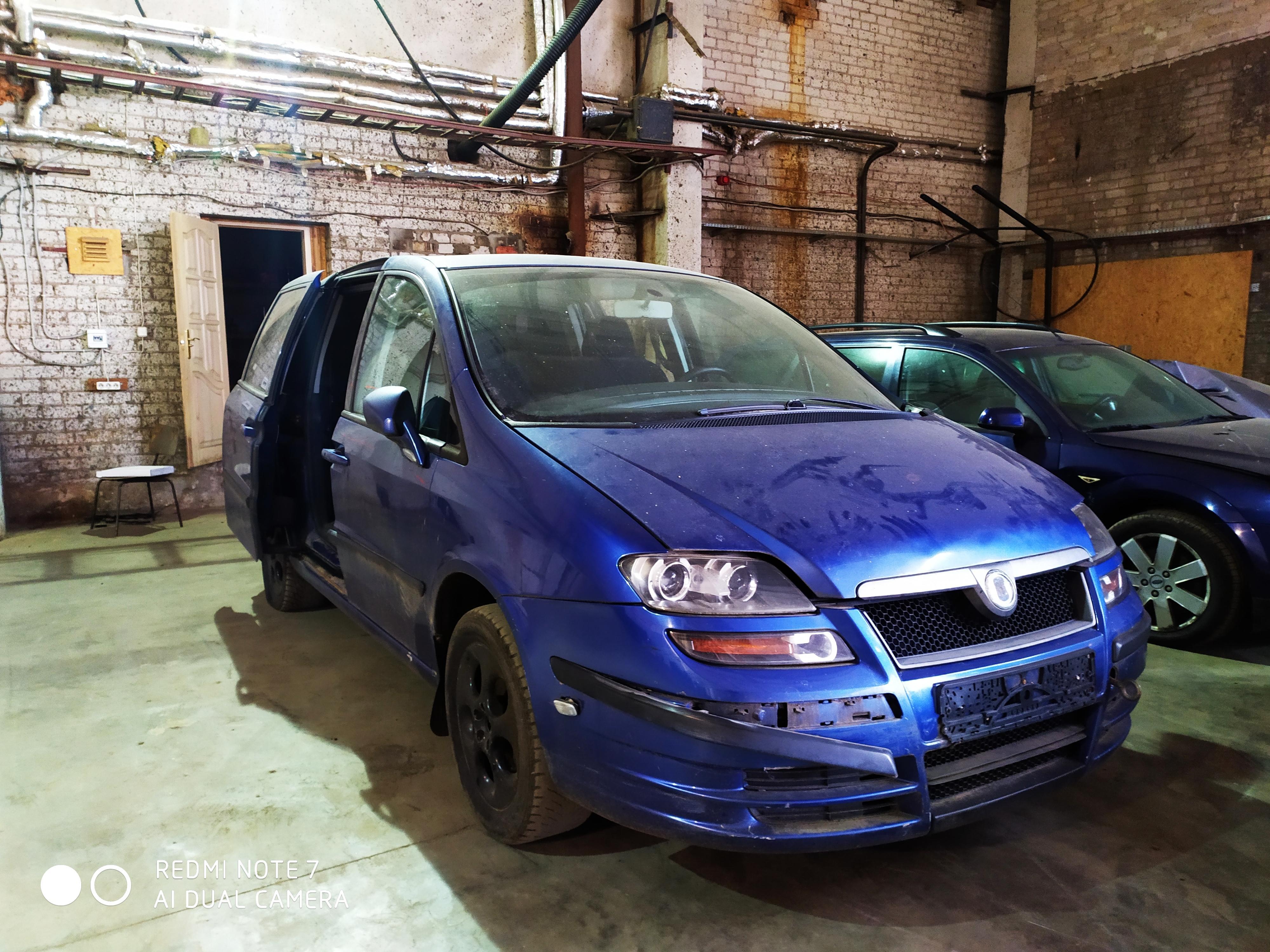 Naudotos automobilio dalys Fiat ULYSSE 2003 2.2 Mechaninė Vienatūris 4/5 d. Melyna 2020-8-19