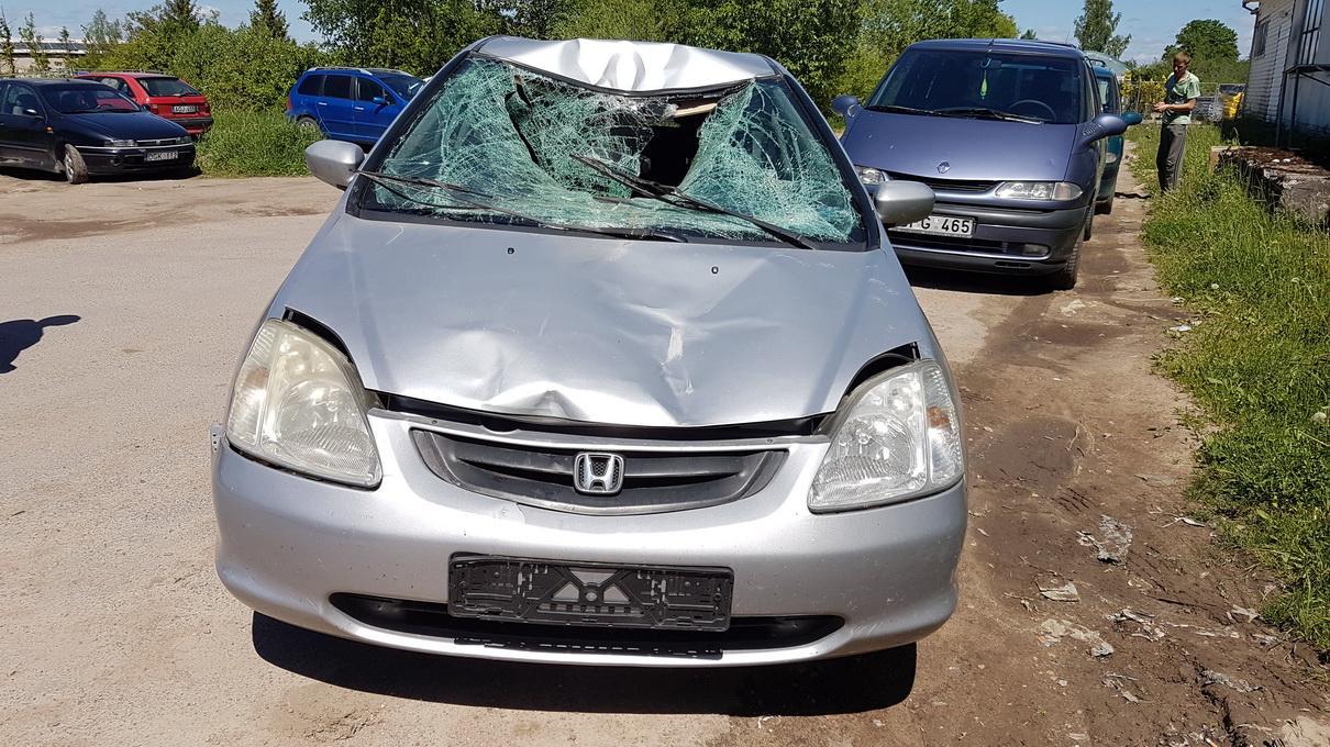 Naudotos automobilio dalys Honda CIVIC 2001 1.4 Mechaninė Hečbekas 2/3 d. Pilka 2017-6-06
