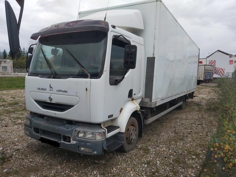 Naudotos automobiliu dallys Foto 2 Truck - Renault MIDLUM 2005 6.2 Mechaninė Sunkvezimis 2/3 d. Balta 2020-10-15 A5761