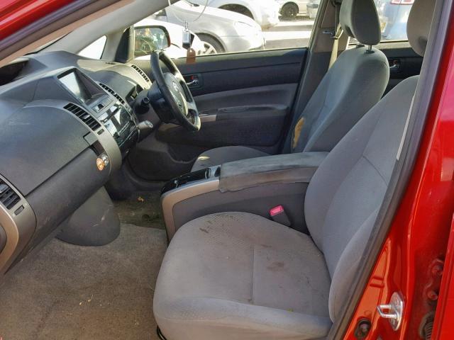 Naudotos automobiliu dallys Foto 5 Toyota PRIUS 2008 1.5 Automatinė Hečbekas 4/5 d. Raudona 2019-5-30 A4536