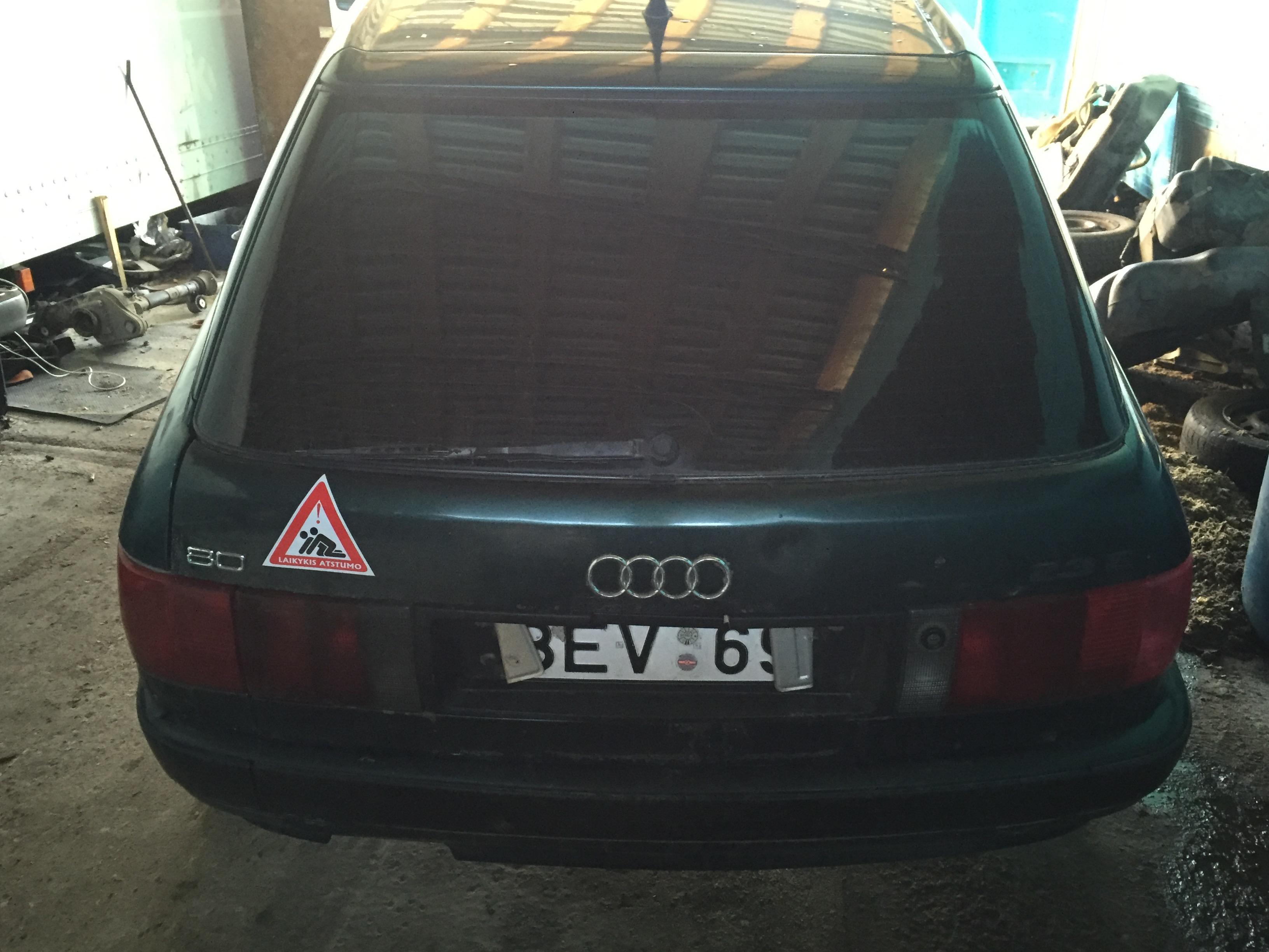 Naudotos automobilio dalys Audi 80 1992 2.3 Mechaninė Universalas 4/5 d. Zalia 2017-12-14