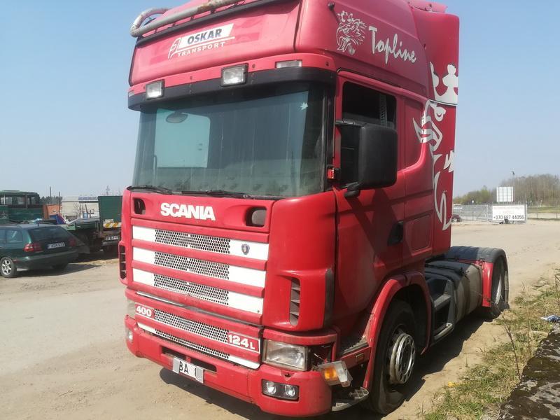 Naudotos automobiliu dallys Foto 3 Truck -Scania 124L 2001 11.7 Mechaninė Vilkikas 2/3 d. Raudona 2019-4-24 A4451