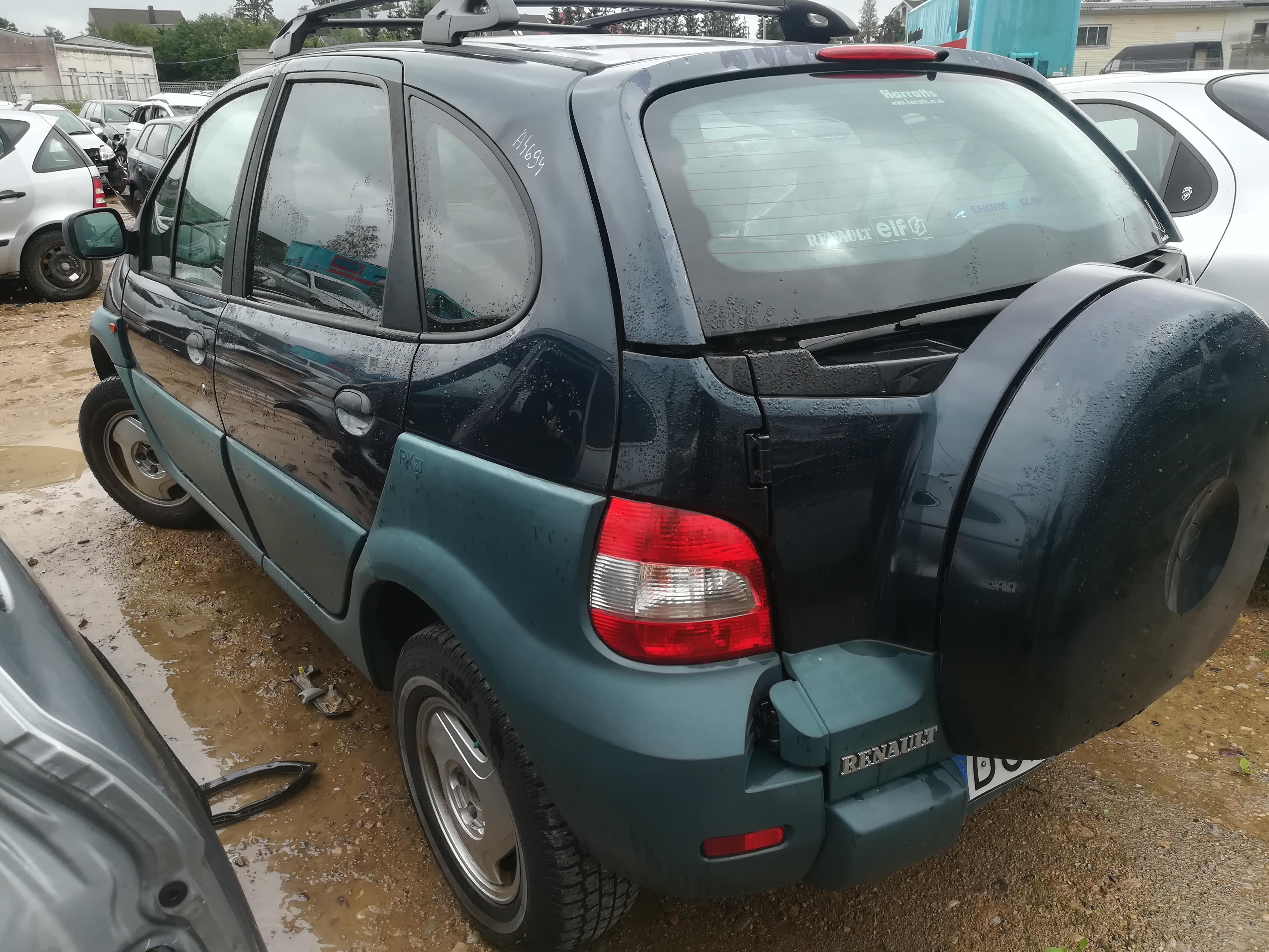 Naudotos automobilio dalys Renault SCENIC 2000 2.0 Mechaninė Vienatūris 4/5 d. Zalia 2019-8-07