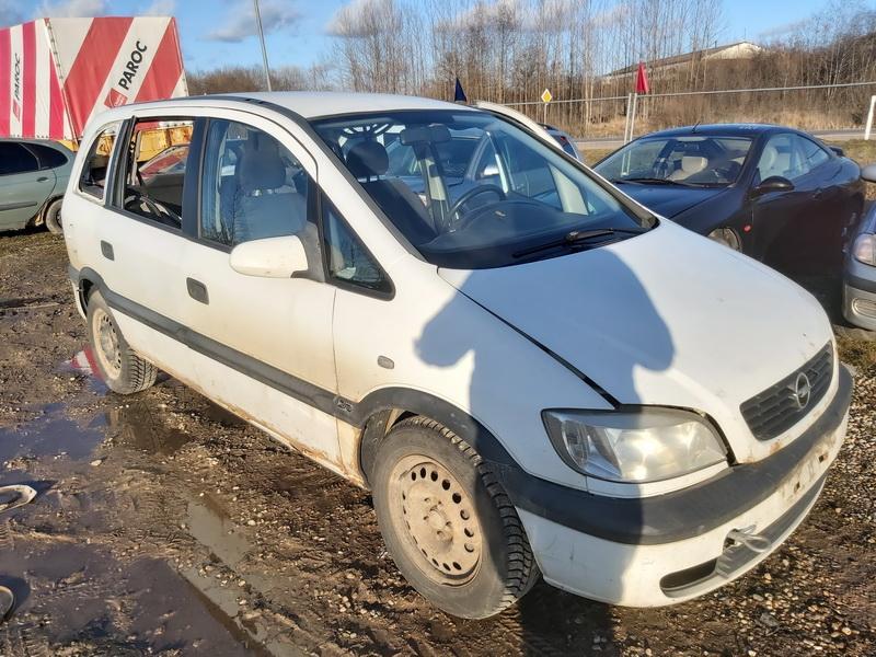 Naudotos automobilio dalys Opel ZAFIRA 2000 2.0 Mechaninė Vienatūris 4/5 d. Balta 2020-2-24