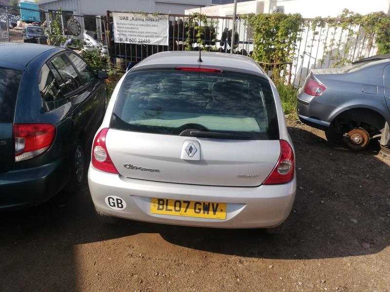 Naudotos automobilio dalys Renault CLIO 2003 1.1 Mechaninė Hečbekas 4/5 d. Sidabrine 2019-9-09