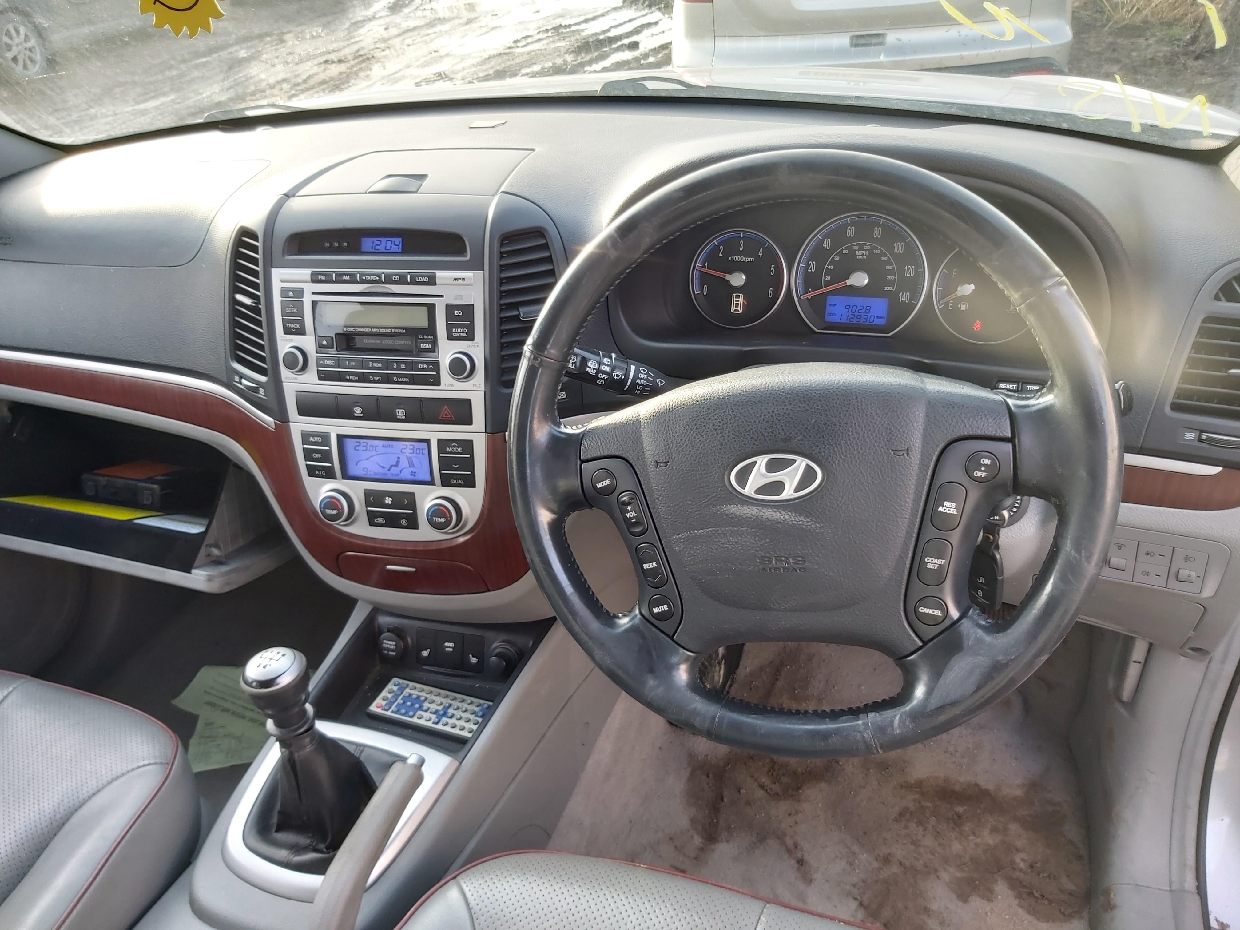 Naudotos automobilio dalys Hyundai SANTA FE 2007 2.2 Mechaninė Visureigis 4/5 d. Sidabrine 2020-3-02