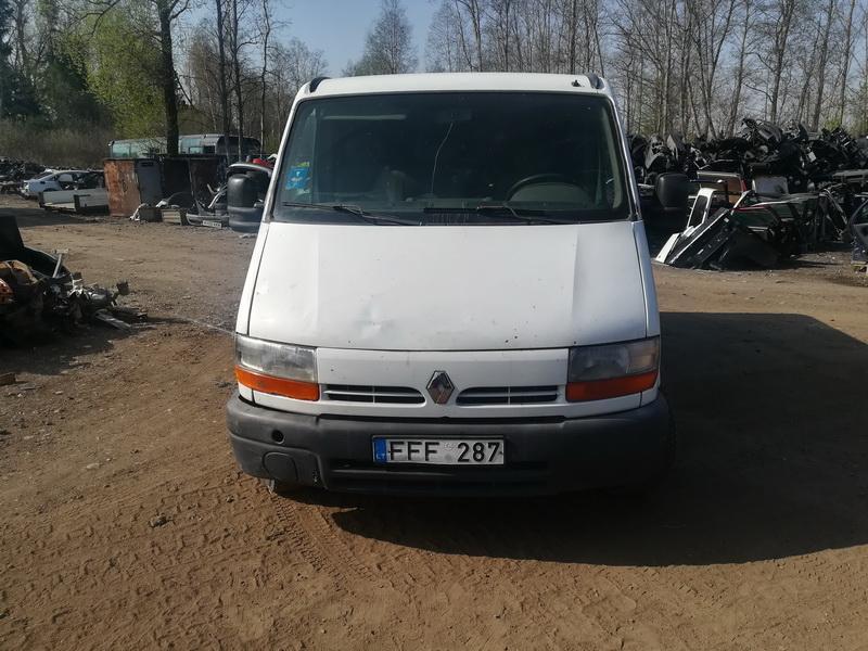 Naudotos automobilio dalys Renault MASTER 1999 2.5 Mechaninė Krovininis mikroautobusas 2/3 d. Balta 2019-4-26