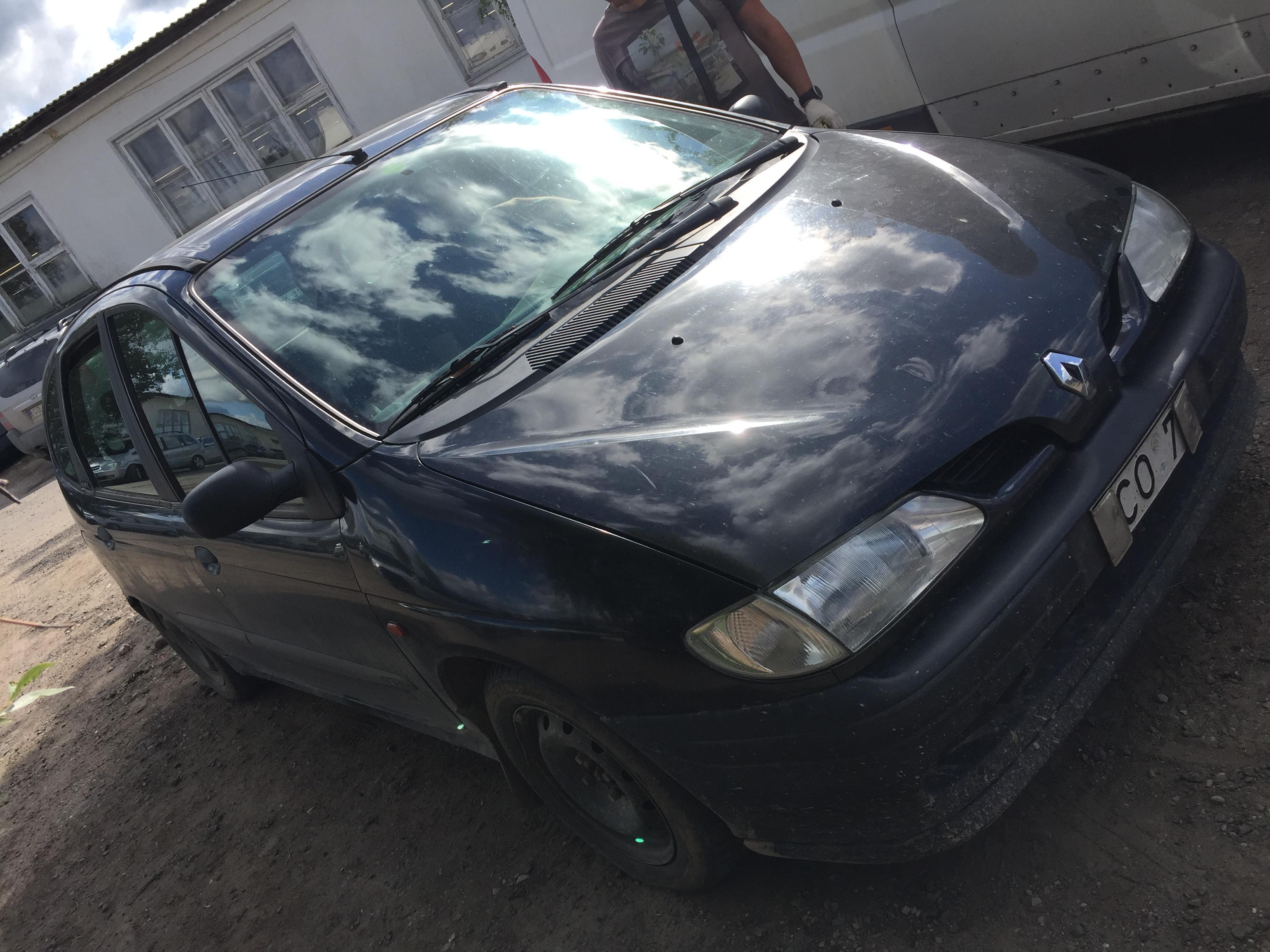 Naudotos automobilio dalys Renault SCENIC 1999 1.9 Mechaninė Vienatūris 4/5 d. Juoda 2018-8-21