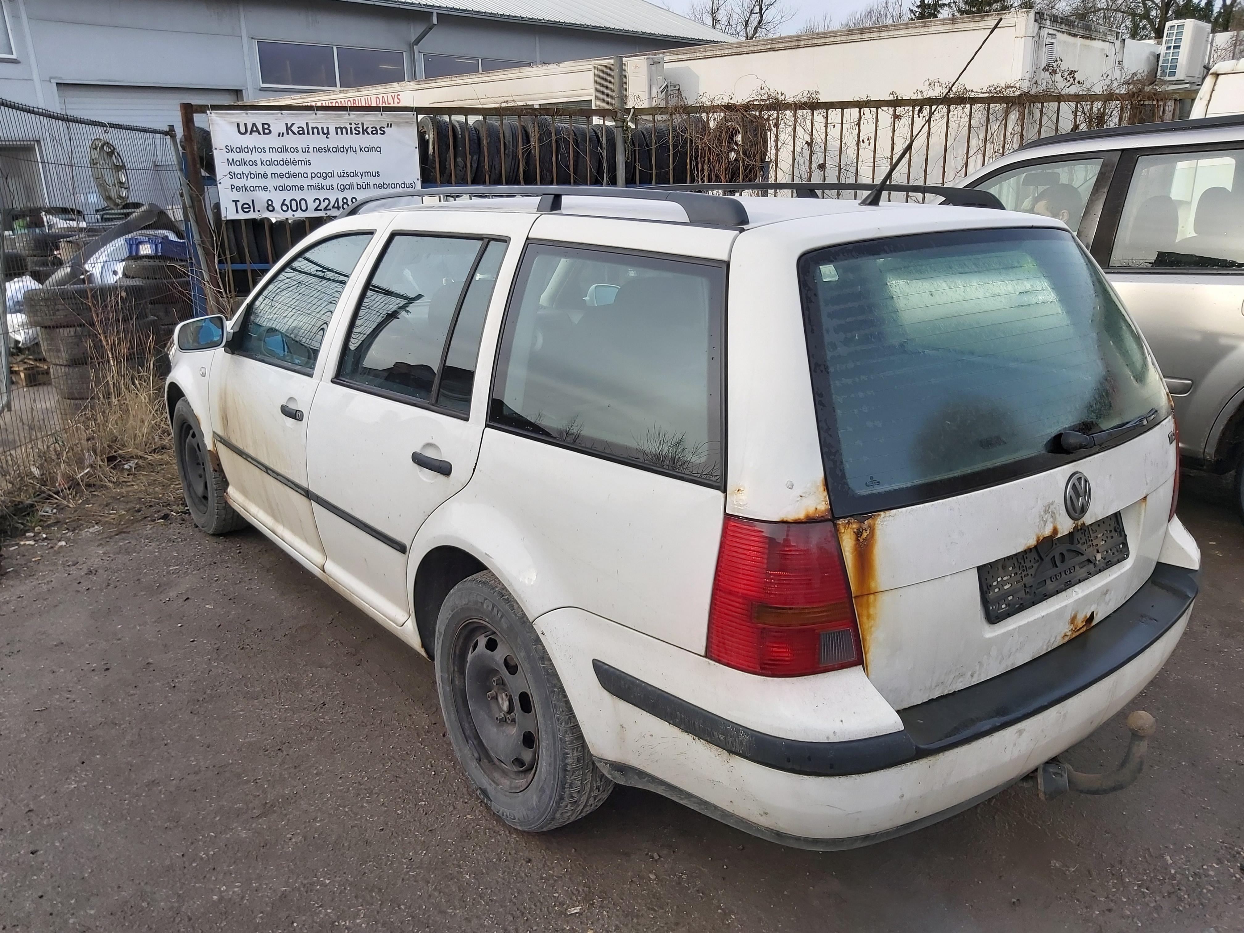 Подержанные Автозапчасти Foto 7 Volkswagen GOLF 2000 1.9 машиностроение универсал 4/5 d. белый 2020-2-14 A5072