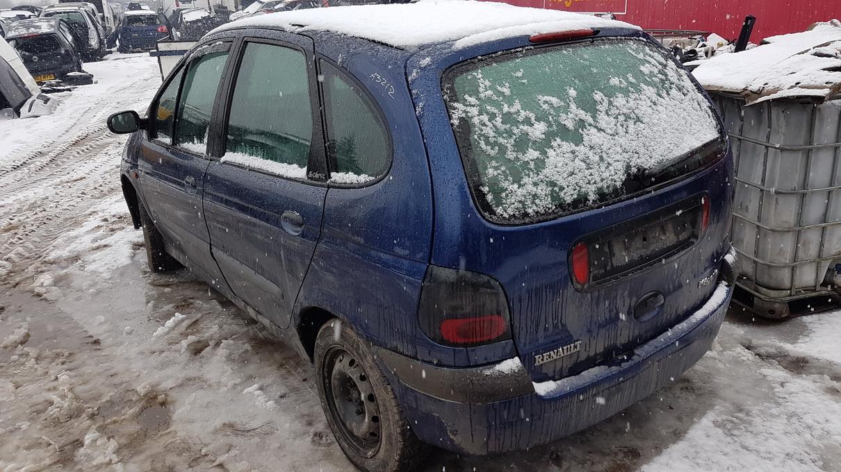 Naudotos automobilio dalys Renault SCENIC 1998 1.9 Mechaninė Vienatūris 4/5 d. Melyna 2017-3-07