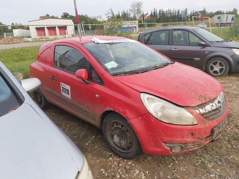 Naudotos automobilio dalys Opel CORSA 2007 1.2 Mechaninė Hečbekas 2/3 d. Raudona 2020-9-02