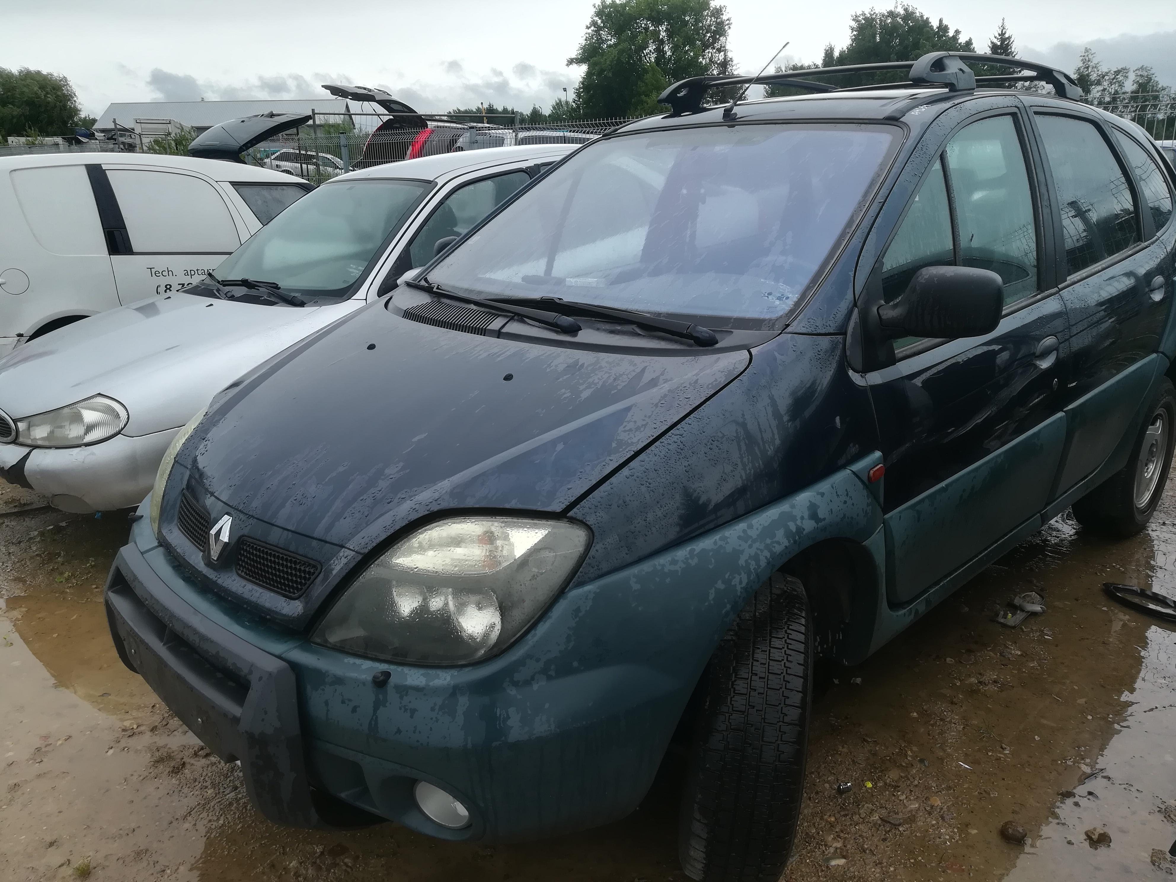 Подержанные Автозапчасти Renault SCENIC 2000 2.0 машиностроение минивэн 4/5 d. зеленый 2019-8-07