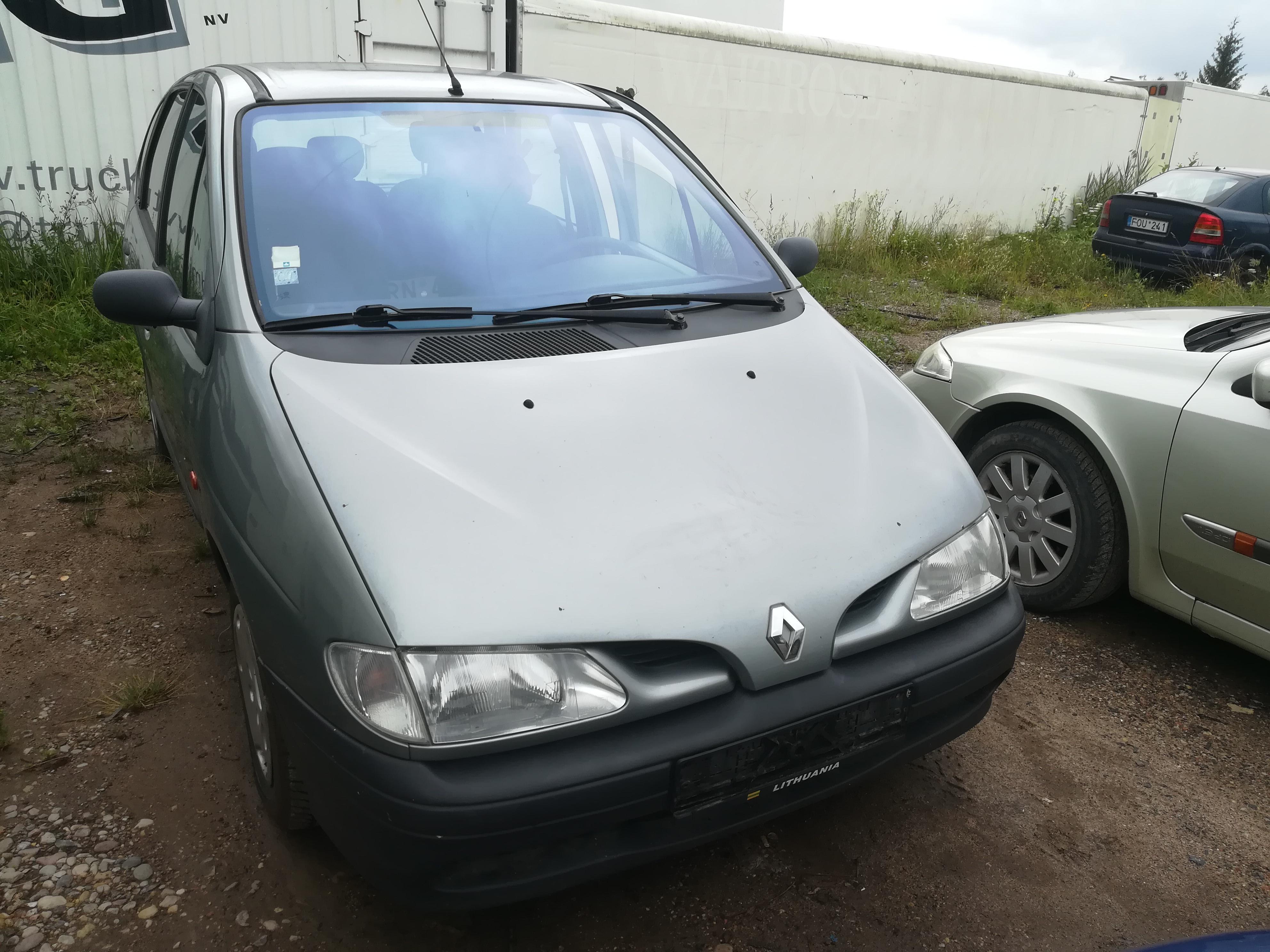 Naudotos automobilio dalys Renault SCENIC 1998 2.0 Mechaninė Vienatūris 4/5 d. Pilka 2019-7-17