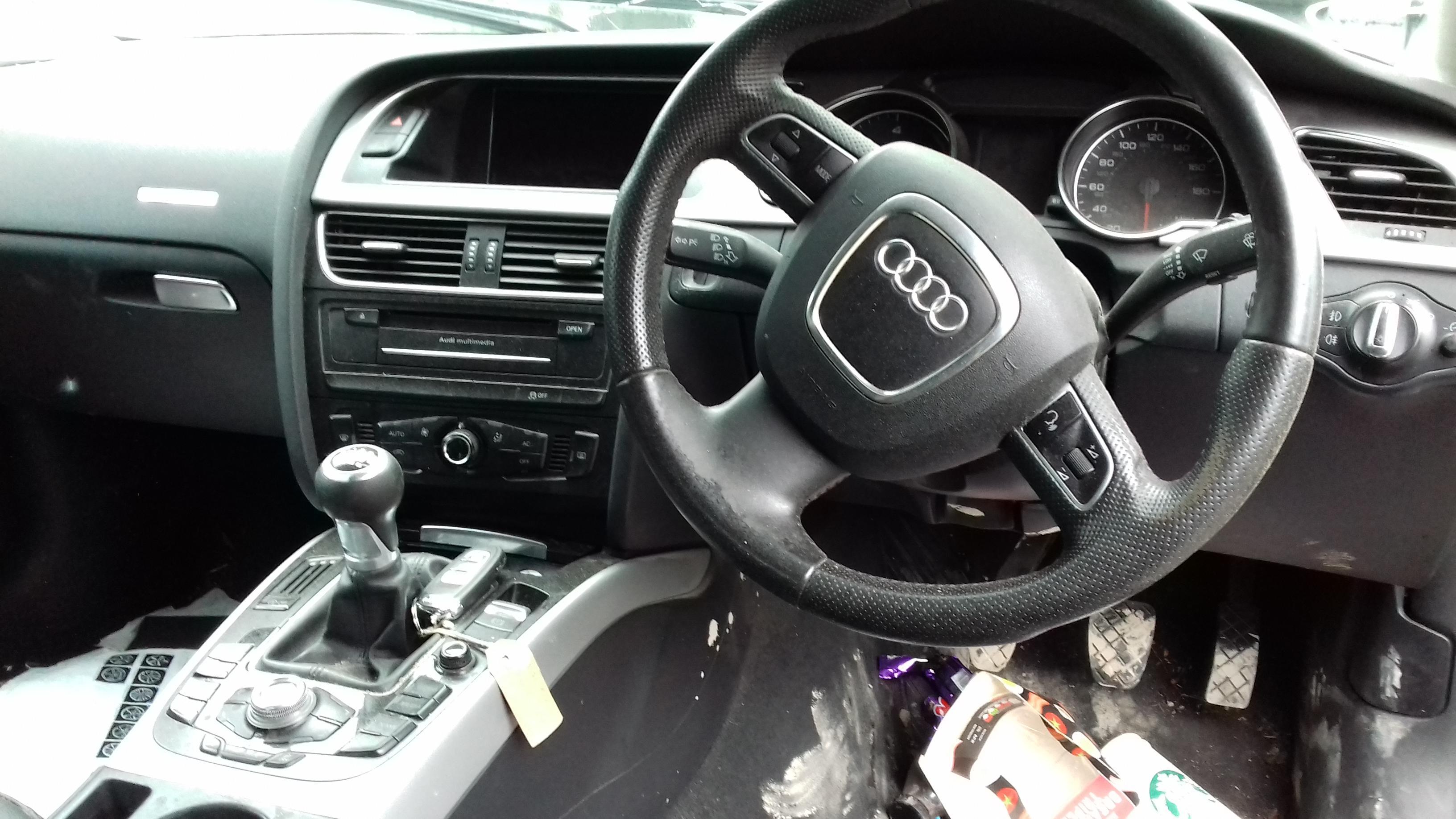 Naudotos automobilio dalys Audi A5 2011 2.0 Mechaninė Hečbekas 4/5 d. Juoda 2019-7-05
