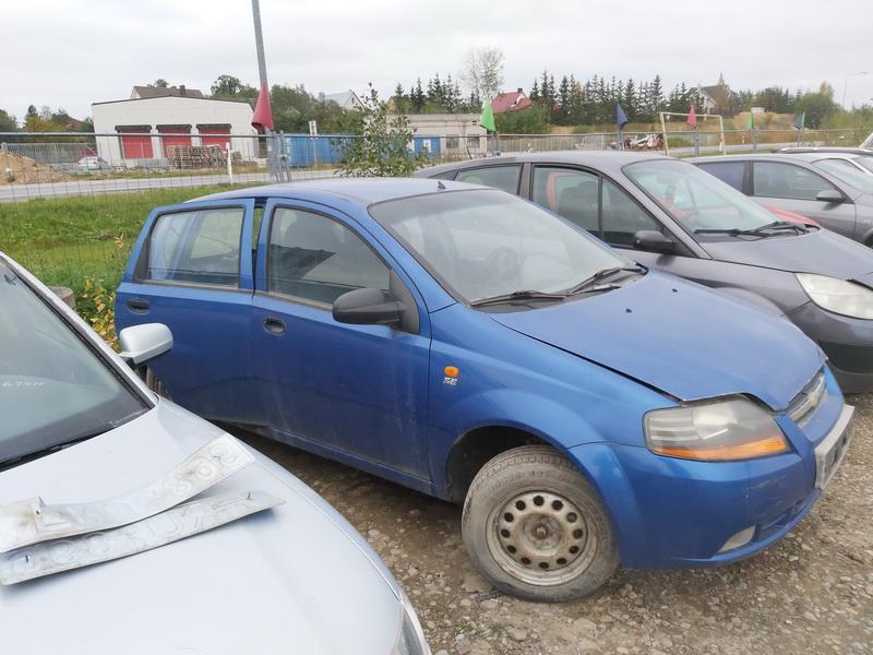 Naudotos automobilio dalys Chevrolet KALOS 2005 1.2 Mechaninė Hečbekas 4/5 d. Melyna 2020-10-05