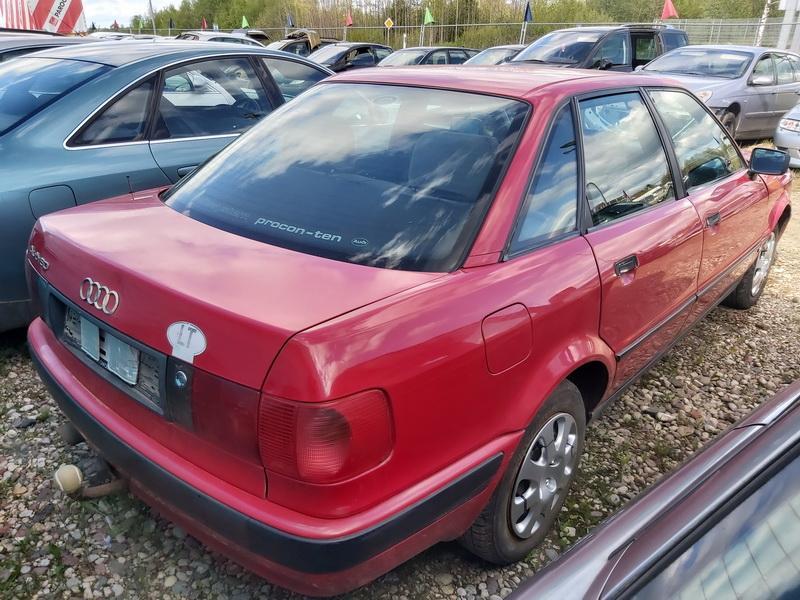 Naudotos automobiliu dallys Foto 8 Audi 80 1992 2.0 Mechaninė Sedanas 4/5 d. Raudona 2020-5-20 A5292