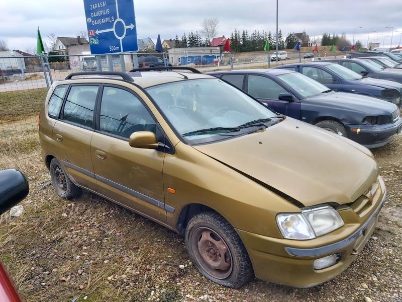 Naudotos automobilio dalys Mitsubishi SPACE STAR 1999 1.3 Mechaninė Vienatūris 4/5 d. Geltona 2020-2-27