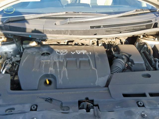 Naudotos automobilio dalys Toyota AURIS 2007 1.6 Mechaninė Hečbekas 4/5 d. Sidabrine 2019-7-25