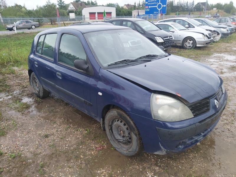 Naudotos automobilio dalys Renault CLIO 2005 1.2 Mechaninė Hečbekas 4/5 d. Melyna 2020-8-28