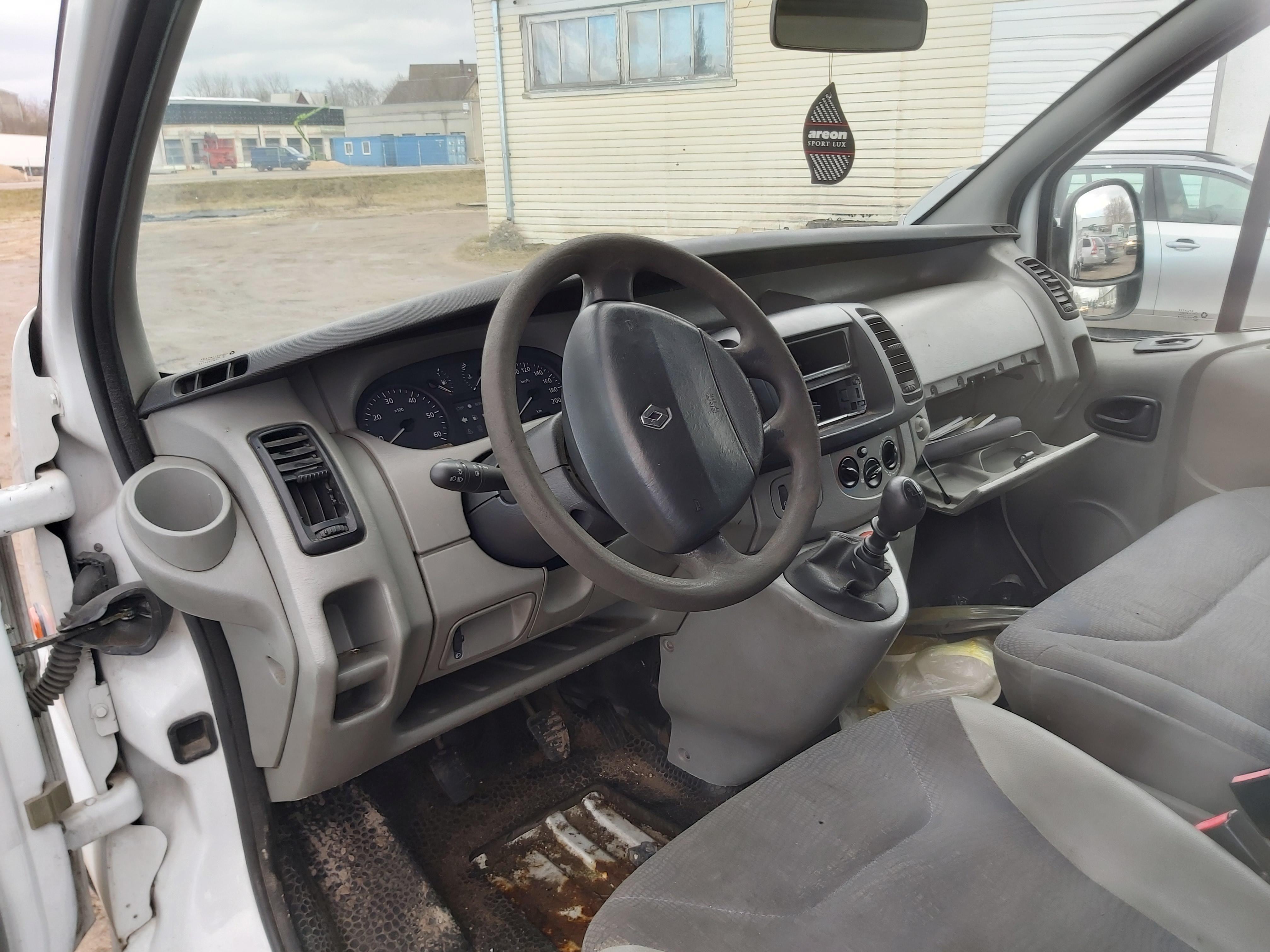 Naudotos automobilio dalys Renault TRAFIC 2002 1.9 Mechaninė Krovininis mikroautobusas 4/5 d. Balta 2020-2-18