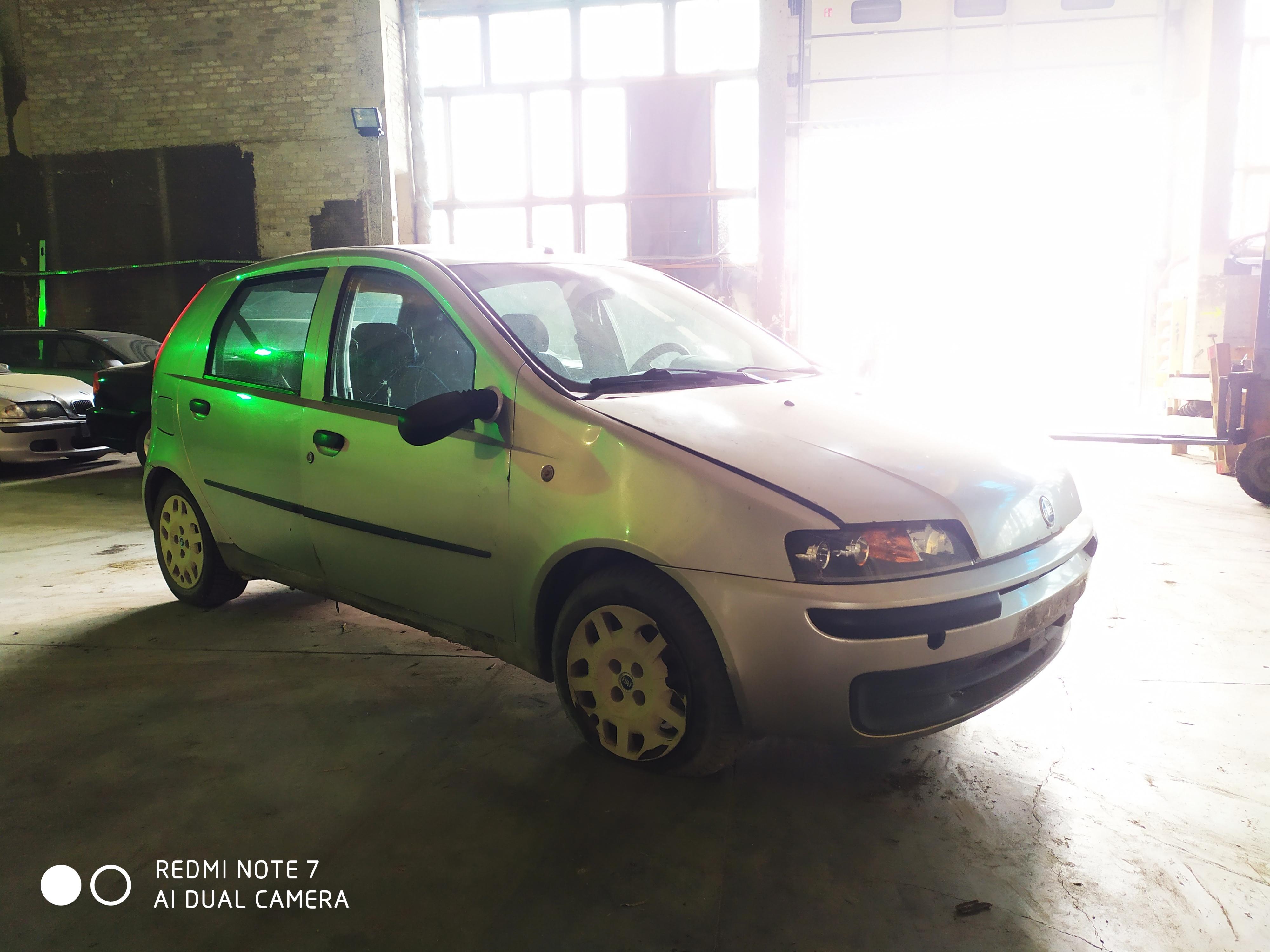 Naudotos automobilio dalys Fiat PUNTO 2000 1.9 Mechaninė Hečbekas 4/5 d. Sidabrine 2020-8-19