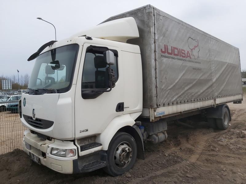 Naudotos automobilio dalys Truck - Renault MIDLUM 2008 7.2 Mechaninė Sunkvezimis 2/3 d. Balta 2020-4-28