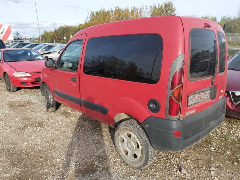 Подержанные Автозапчасти Renault KANGOO 2002 1.6 машиностроение коммерческая 4/5 d. красный 2020-10-20