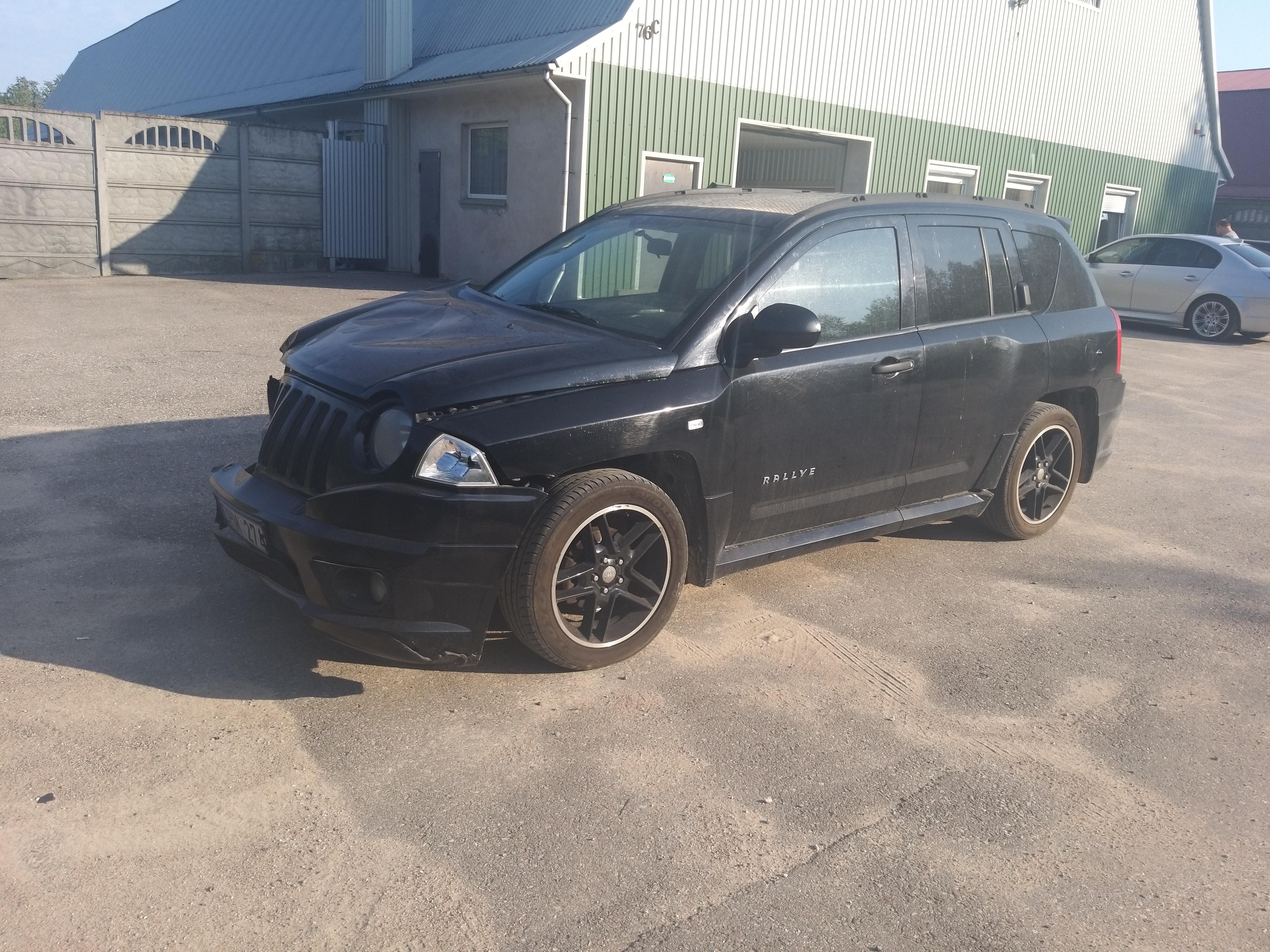 Naudotos automobilio dalys Jeep COMPASS 2008 2.4 Automatinė Hečbekas 4/5 d. Juoda 2019-9-09