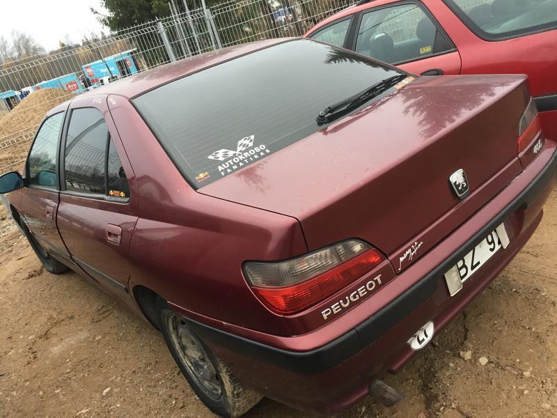 Naudotos automobilio dalys Peugeot 406 1996 1.9 Mechaninė Sedanas 4/5 d. Raudona 2018-11-03