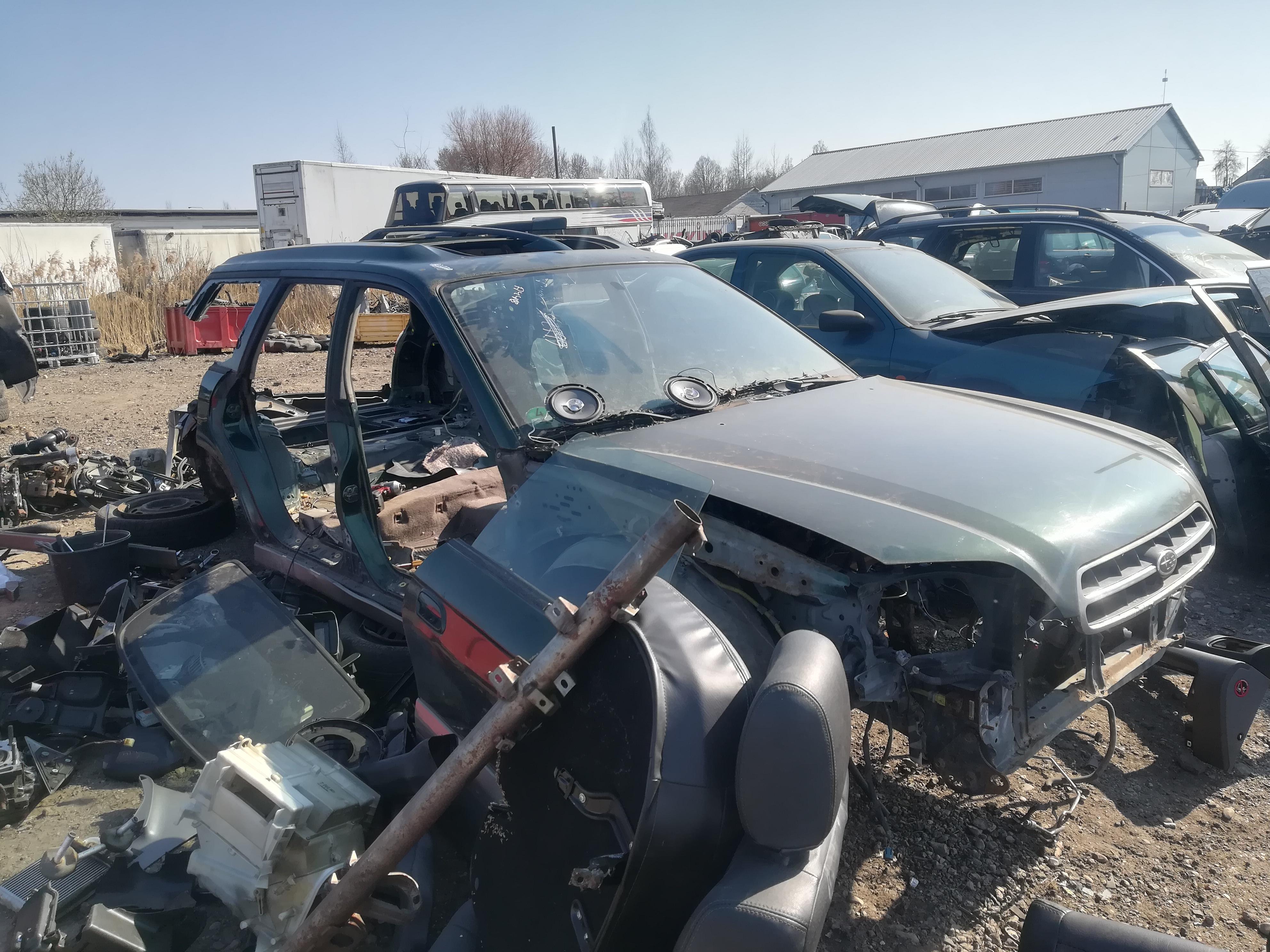 Подержанные Автозапчасти Foto 3 Subaru LEGACY 1999 2.5 автоматическая универсал 4/5 d. зеленый 2019-4-12 A4418
